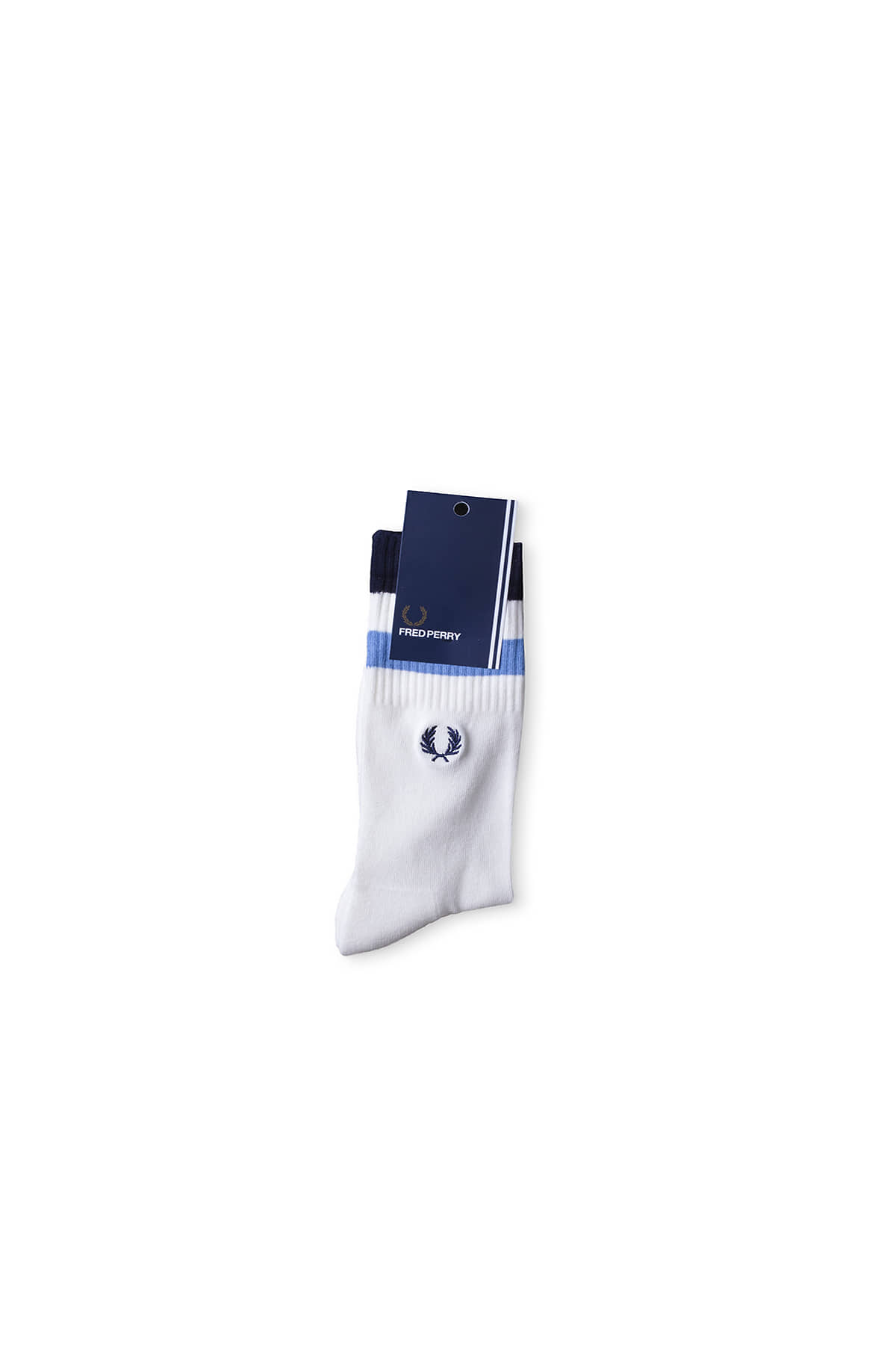 FRED PERRY  : Tipped Sports Socks (Snow White/Navy)