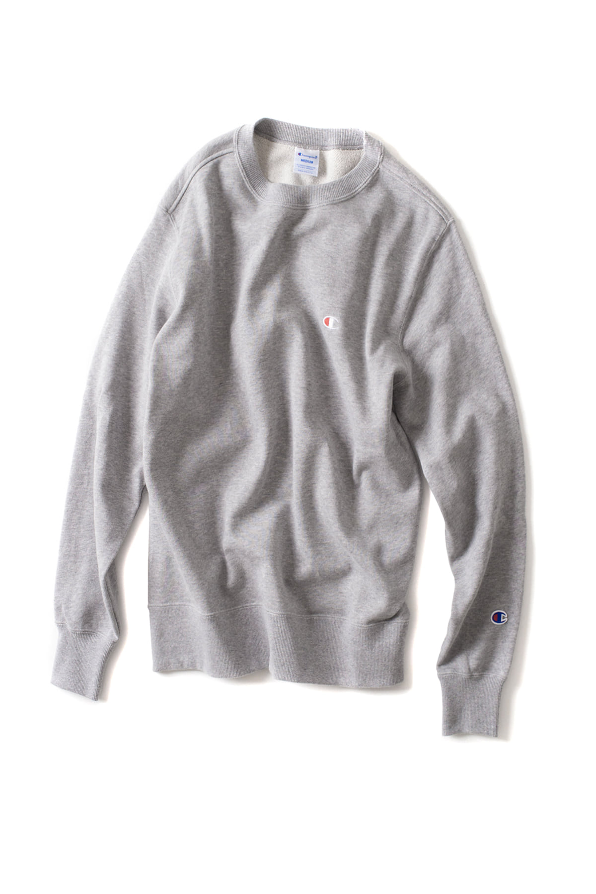 Champion : Basic Crewneck Sweat Shirt (Oxford Grey)