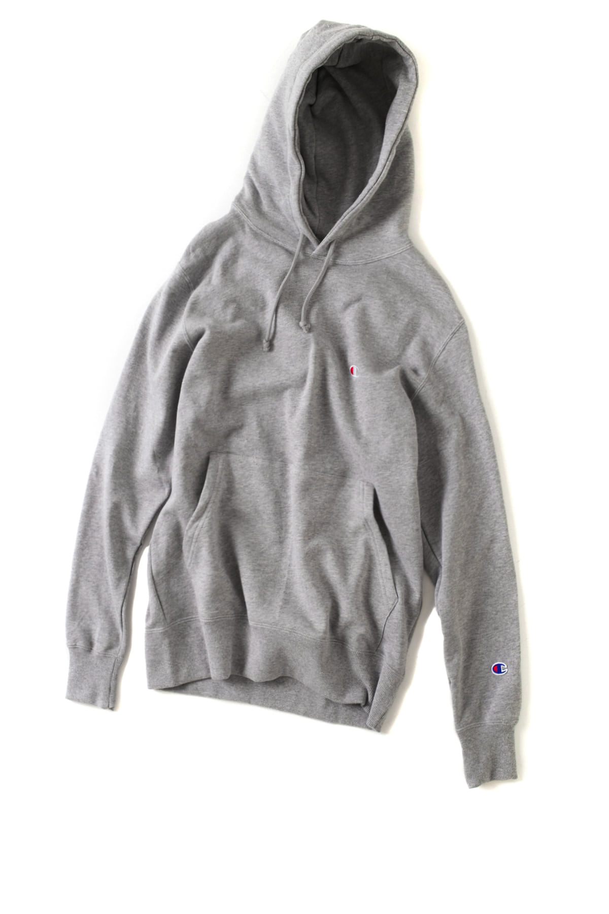 Champion : Basic Pullover Hooded SweatShirt (Oxford Gray)