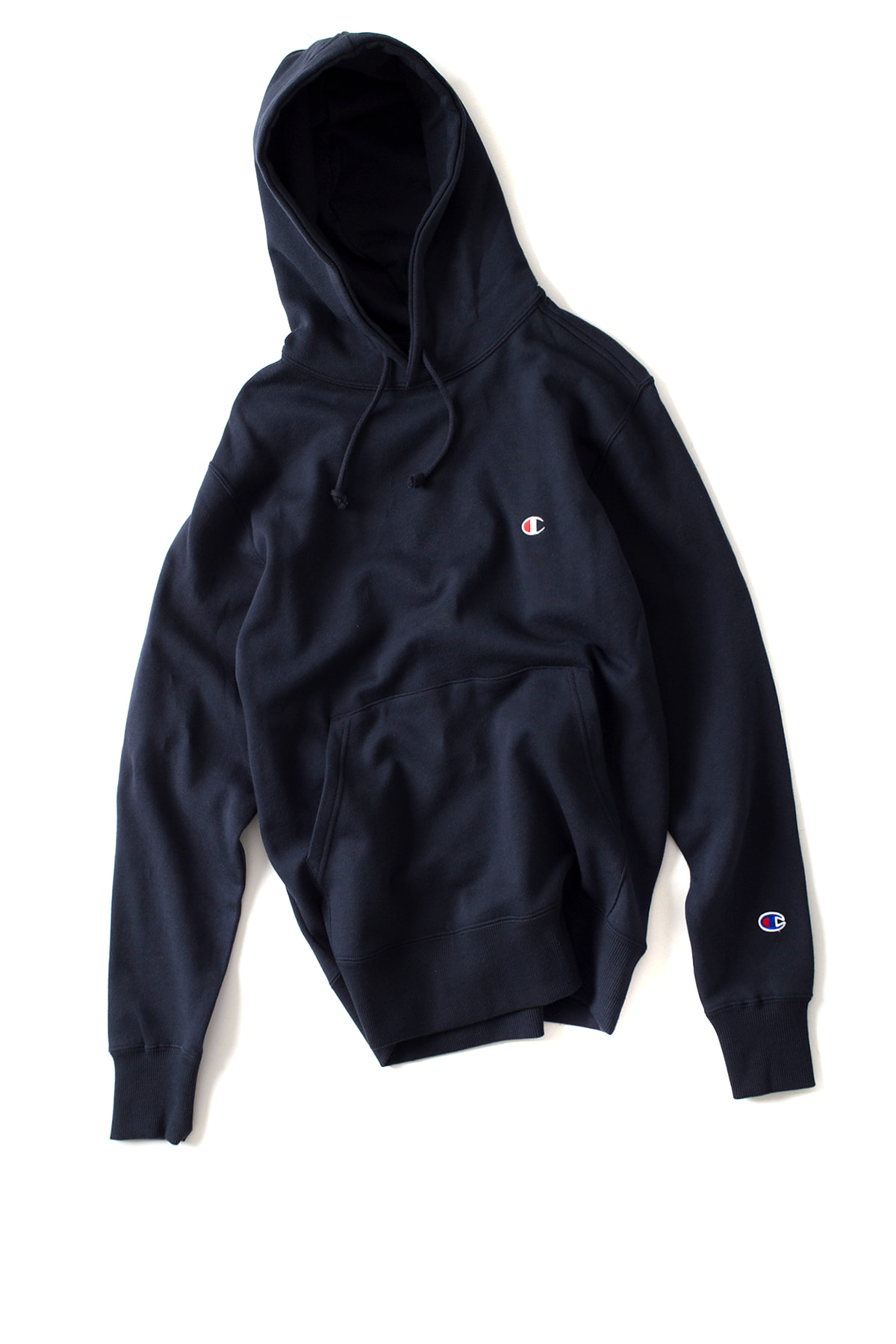 Champion : Basic Pullover Hooded SweatShirt (Navy)