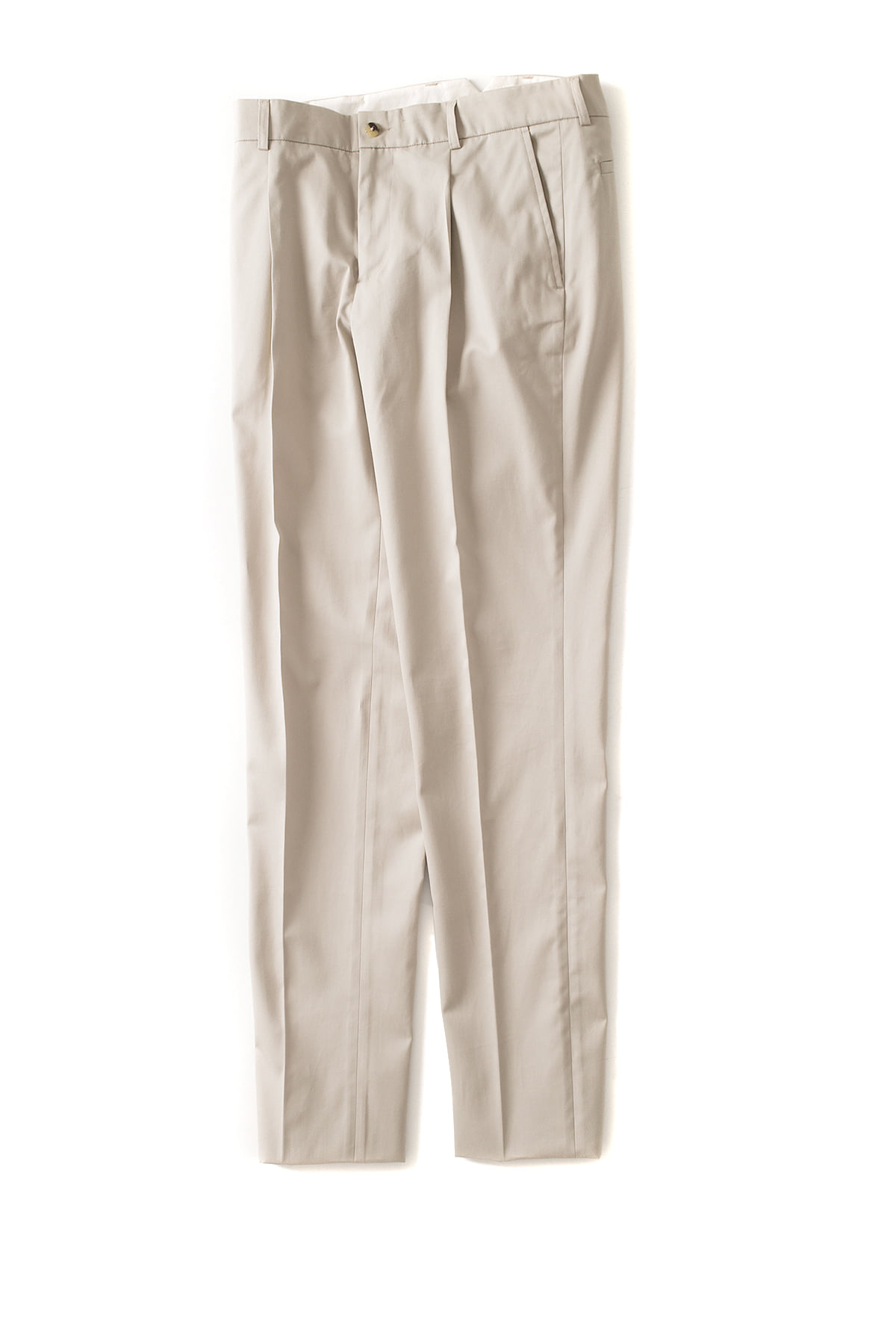 de bonne facture : One Pleat Trousers (Beige)