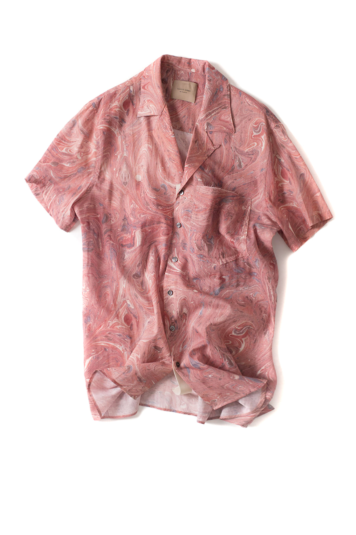 Federico Curradi : Short Sleeve Bowling Shirt (Pink)