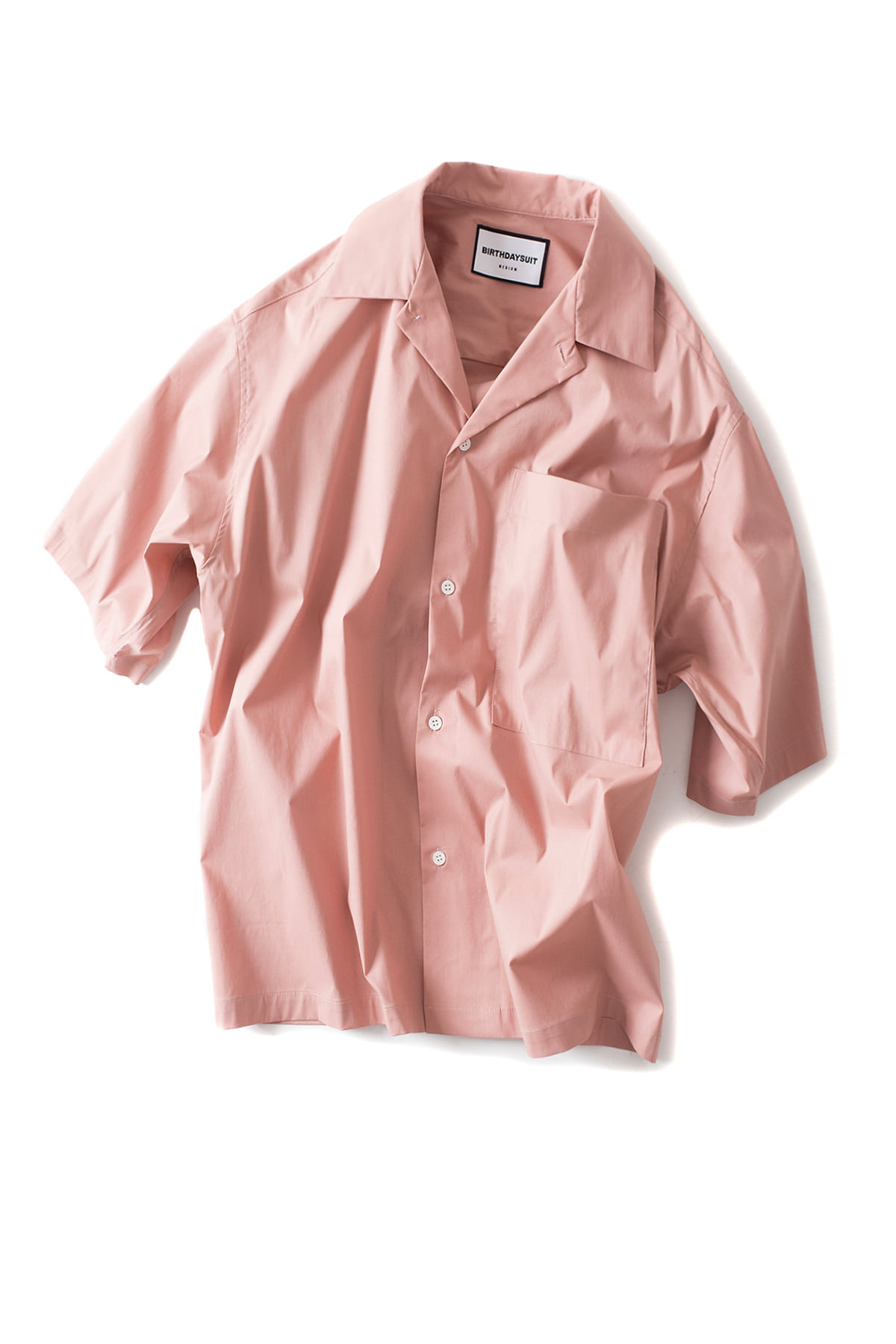 BIRTHDAYSUIT : Oversized HS Shirt(Antique Pink)