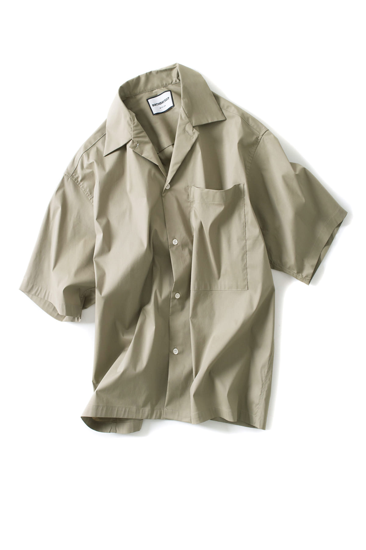 BIRTHDAYSUIT : Oversized HS Shirt(Olive Grey)
