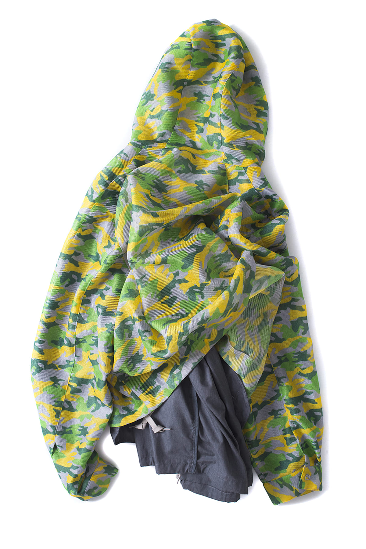 Name : Meshed Camo Hooded Blouson (Yellow)