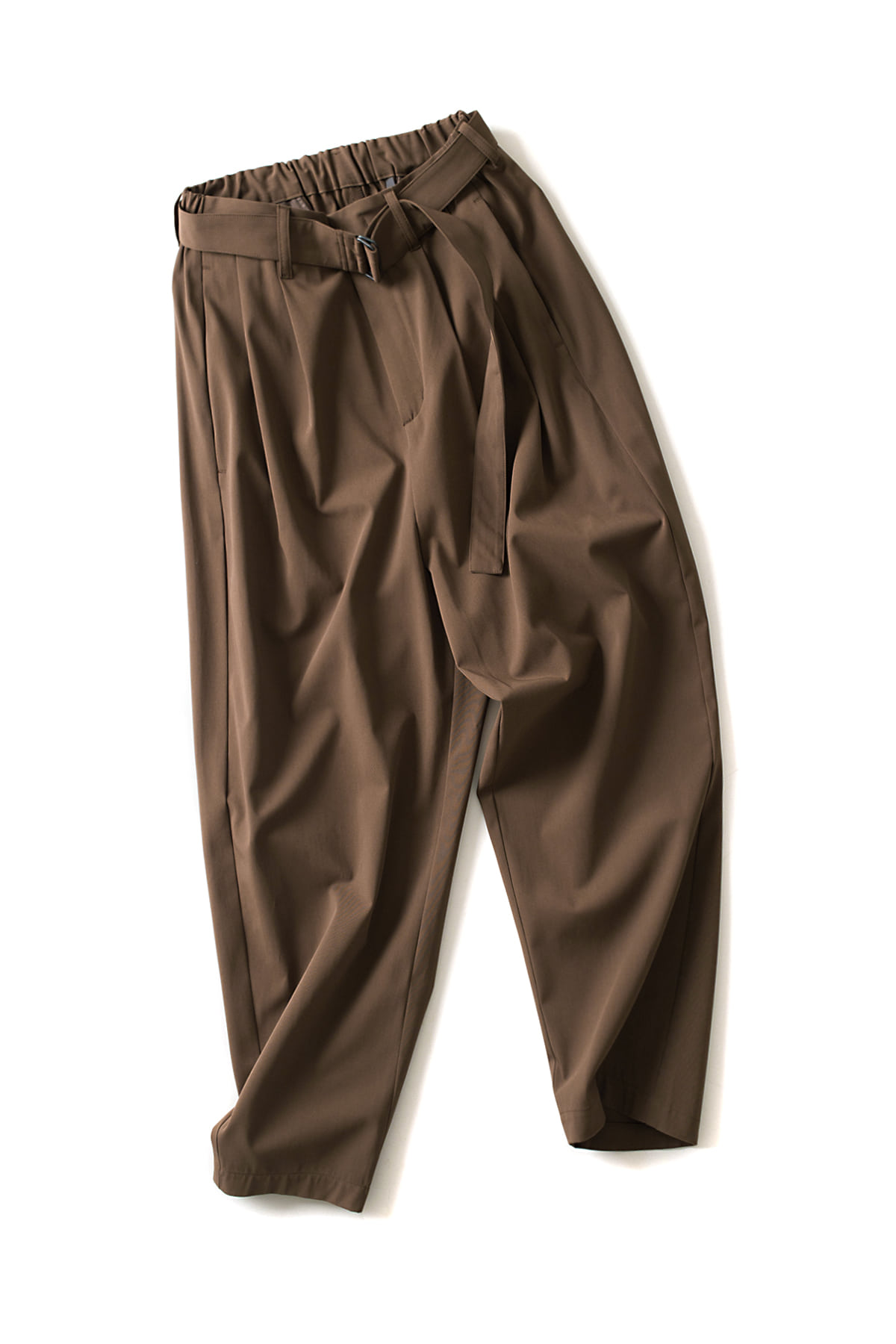 ATTACHMENT / KAZUYUKI KUMAGAI : 2Tuck Wide Pants (Brown)