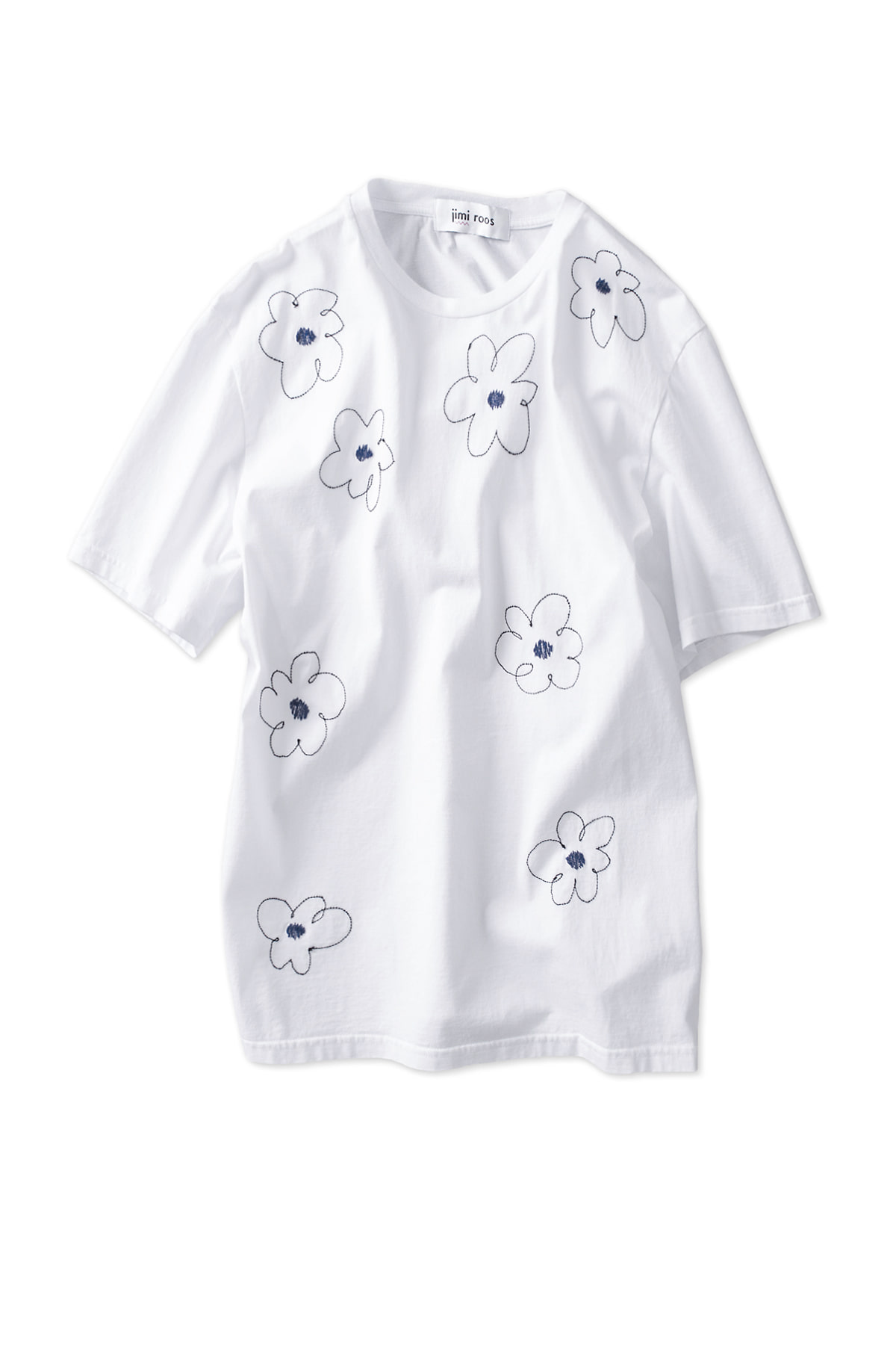 jimi roos : Flower T-Shirt (White)