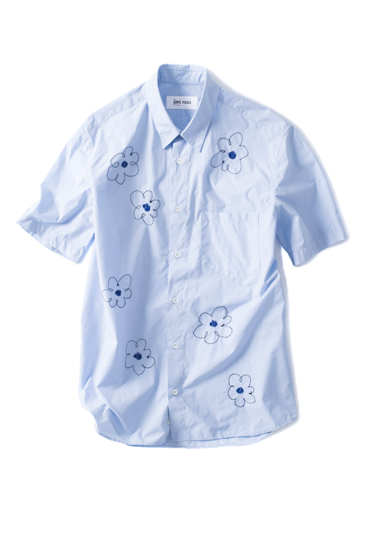 jimi roos : Flower Shirt (Blue)