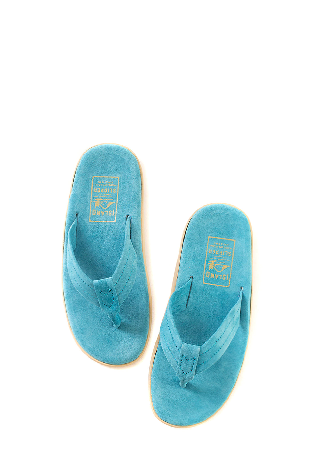 ISLAND SLIPPER : PT203 (Turquoise Suede)