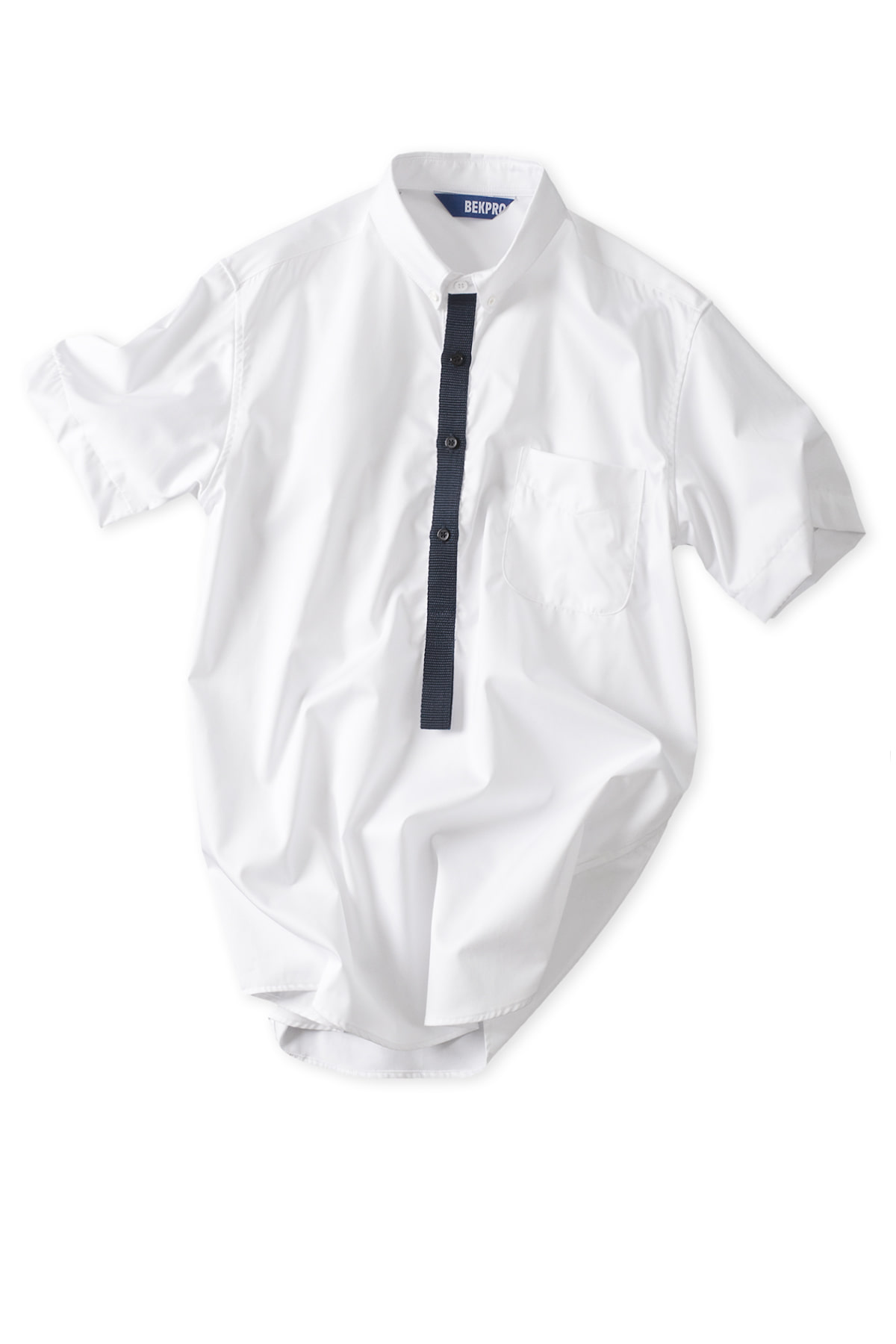 BEKPRO : SS Pullover Shirt (White)