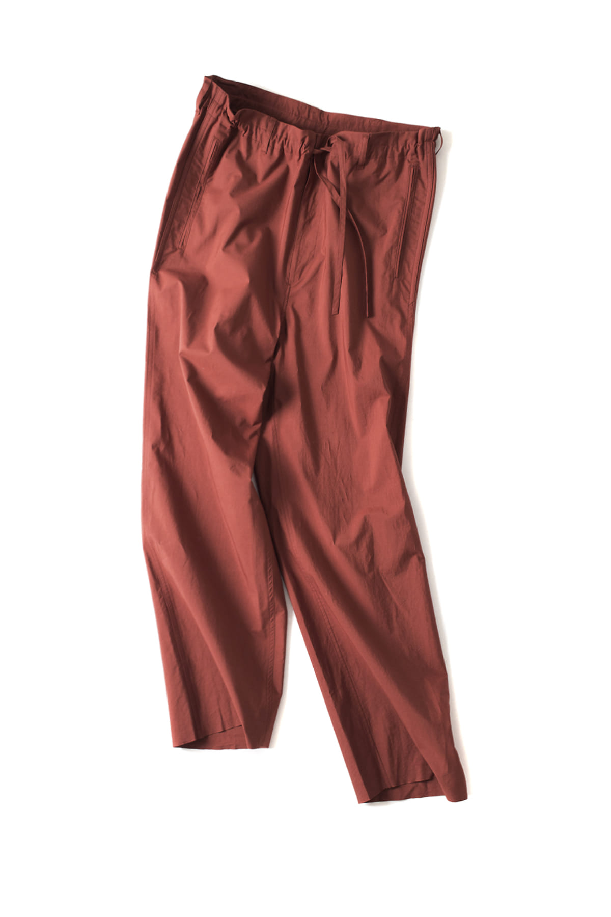 Auralee : Selvedge Weather Cloth Easy Pants (Red)