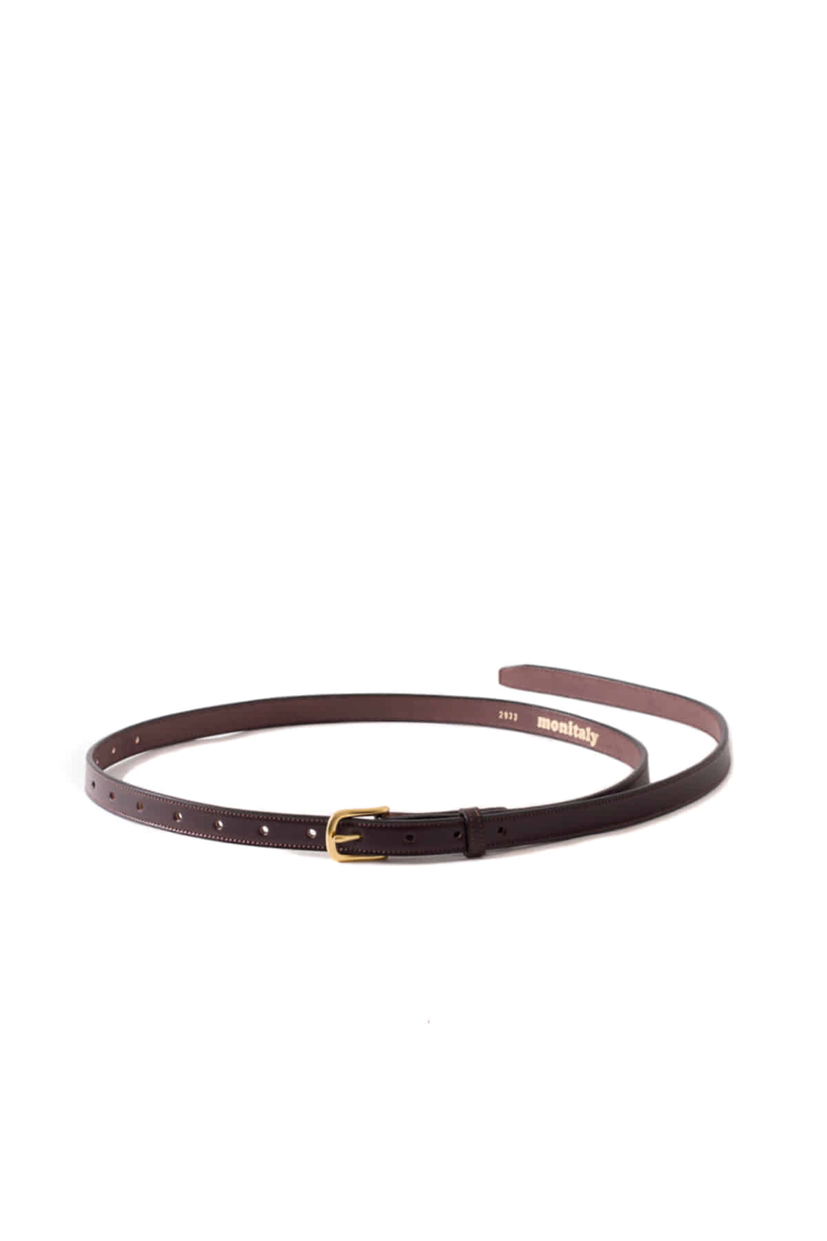 MONITALY : Extra Long Leather Belt (Brown)