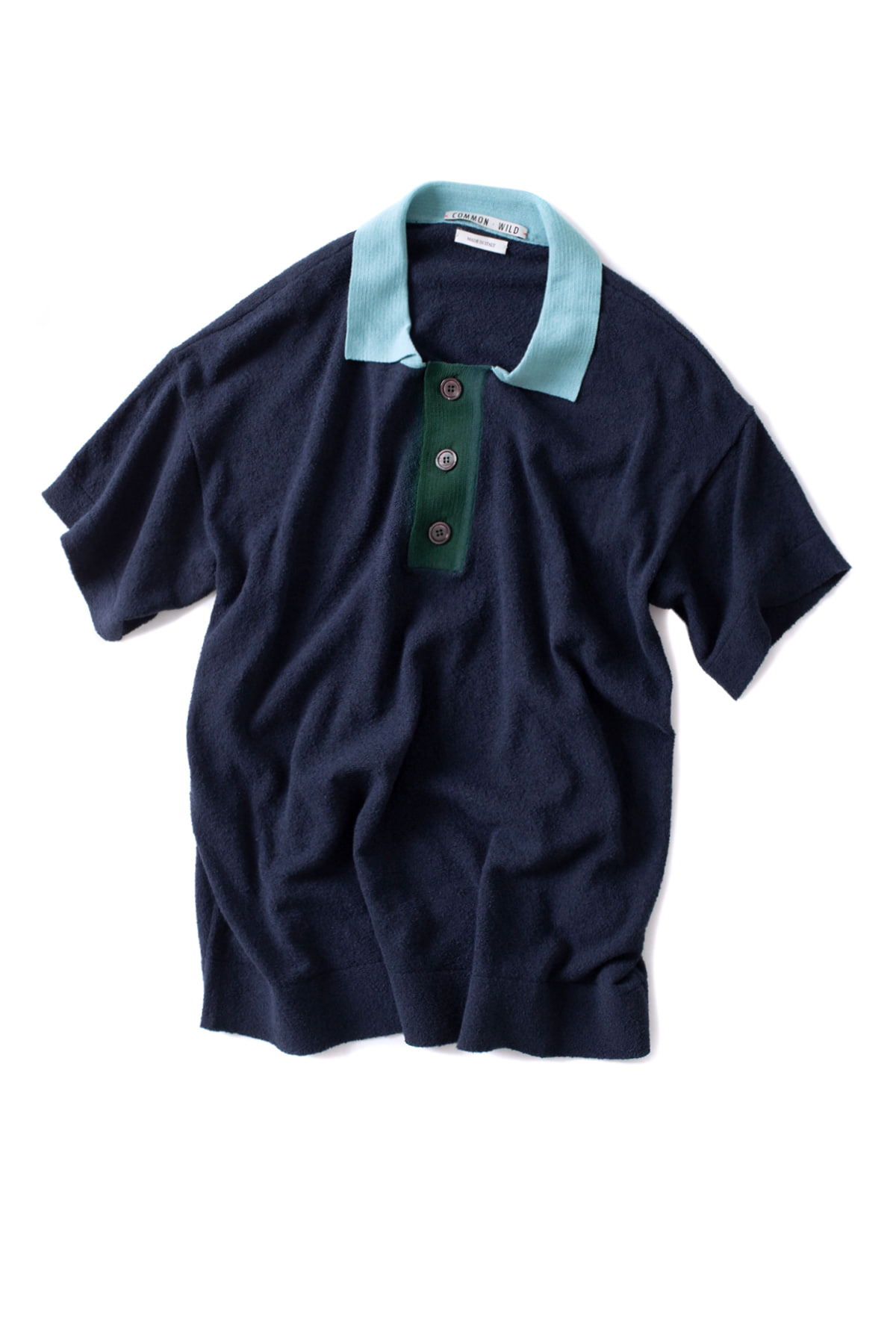 COMMON WILD : Polo Knit (Blue Navy)