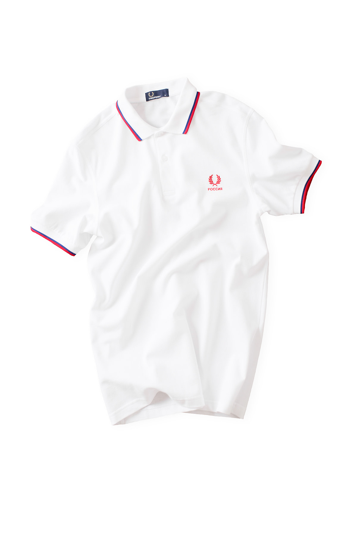 FRED PERRY : The Country Shirt RUSSIA (White)