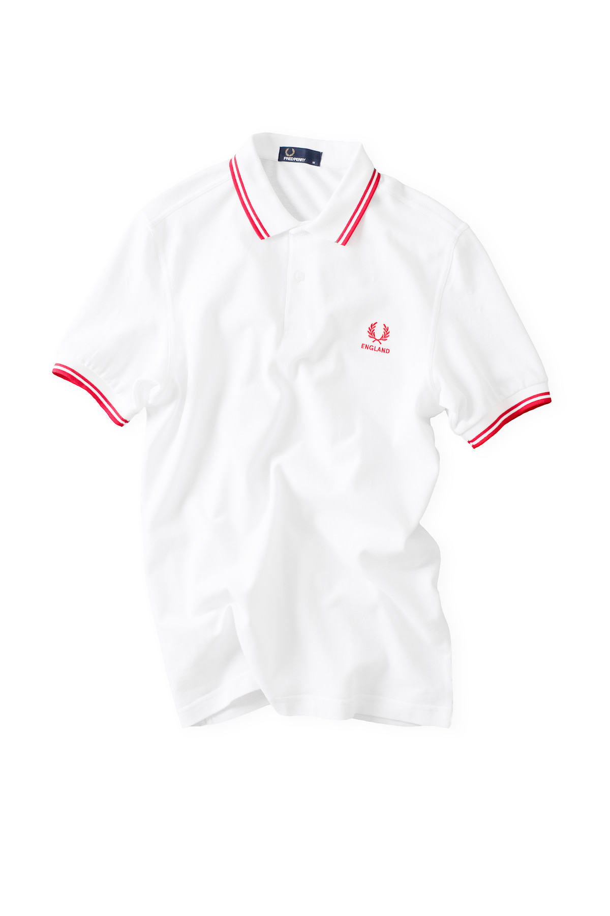 FRED PERRY : The Country Shirt ENGLAND (White)