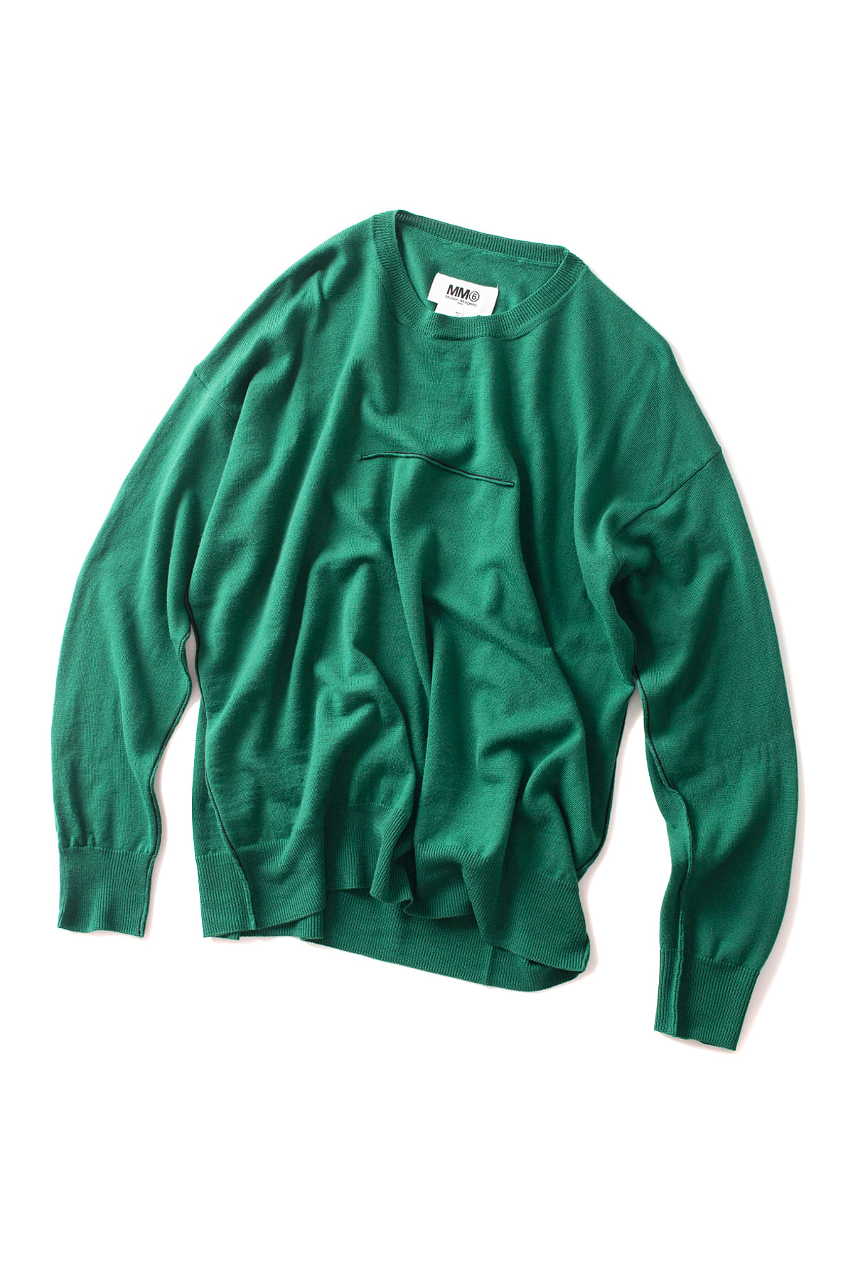 MM6 Maison Margiela : Line Pullover (Green)