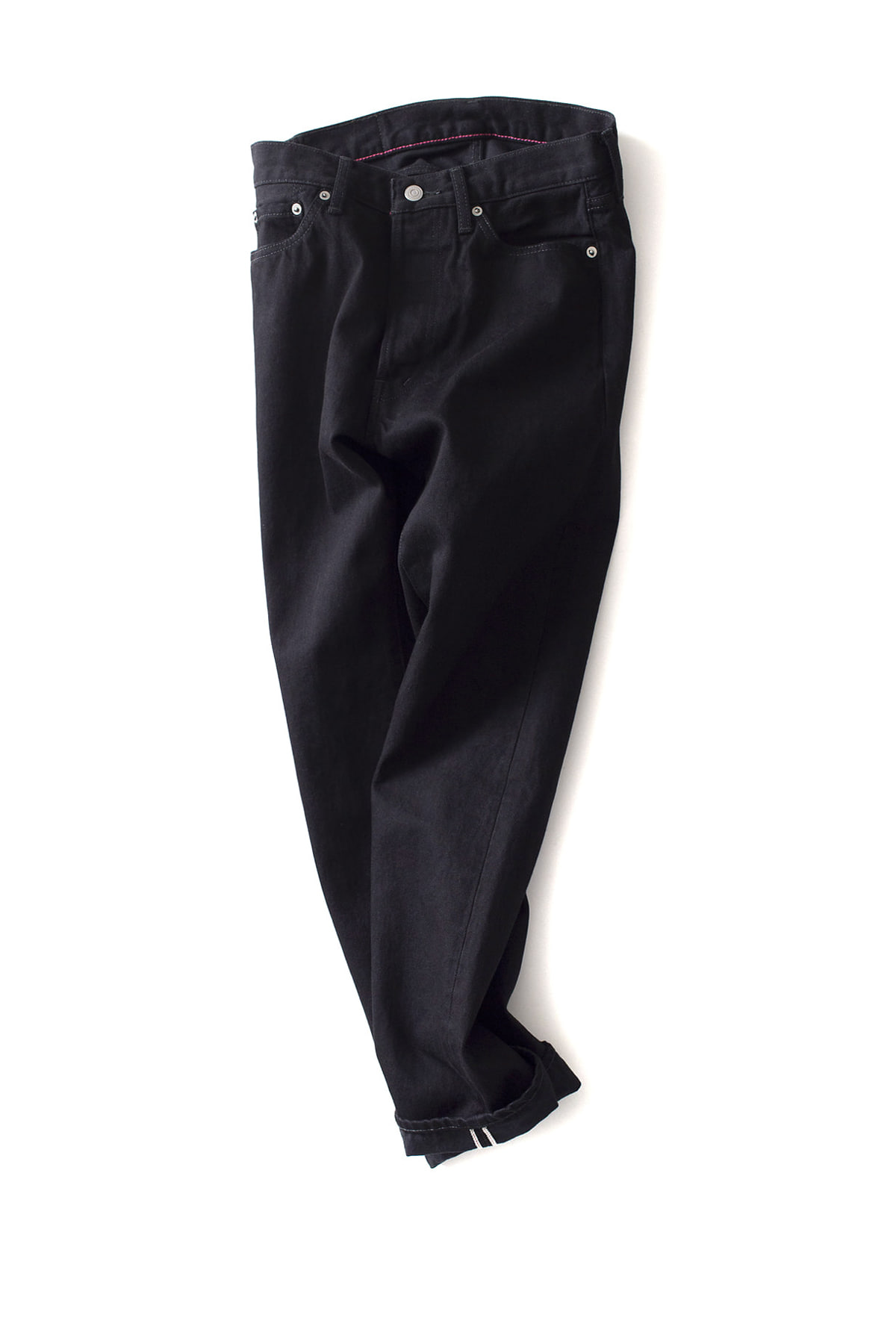 ordinary fits : New Roll Up 5P Black Denim One Wash (Black)