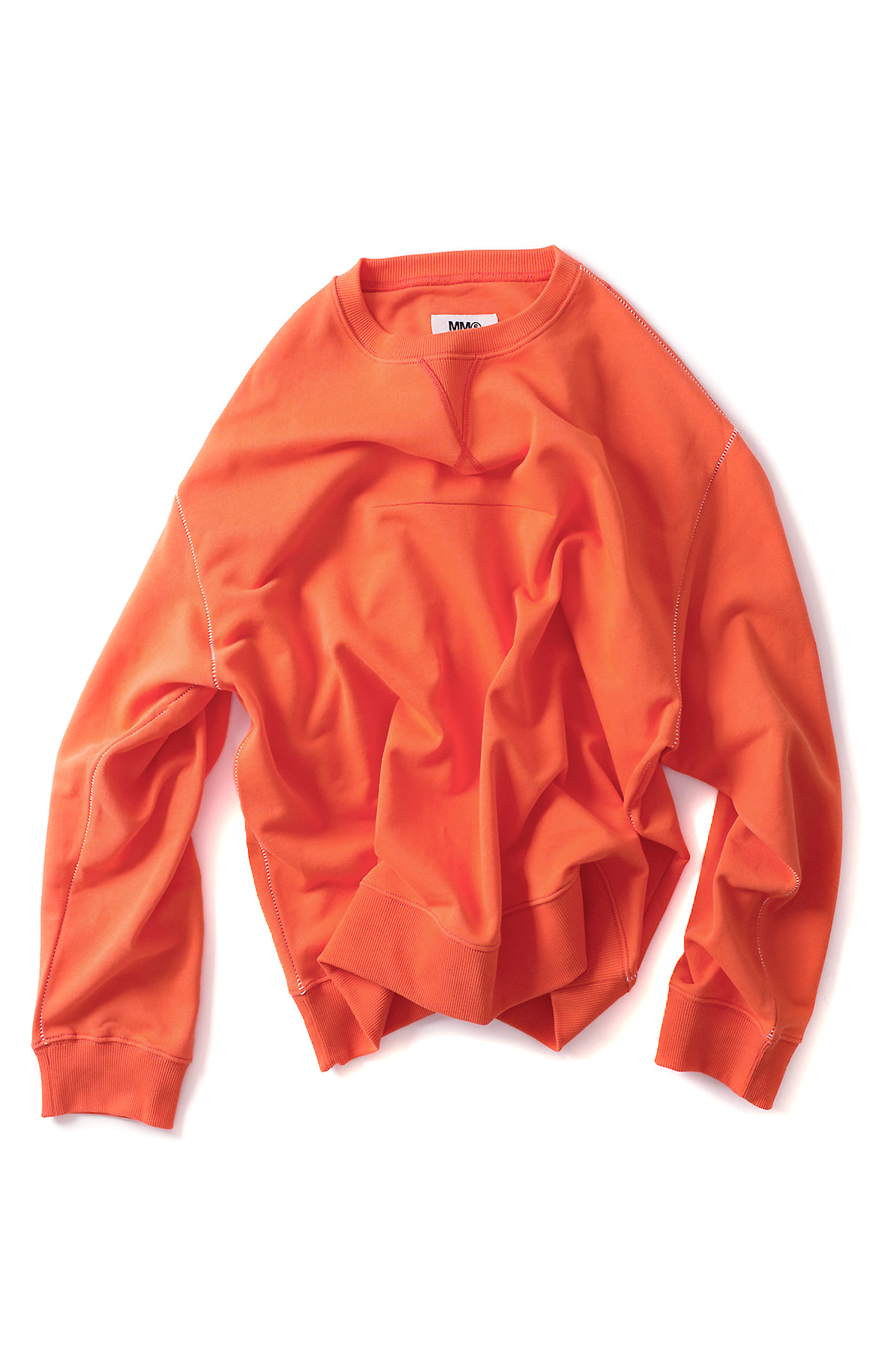 MM6 Maison Margiela : Basic Sweatshirt (Orange)