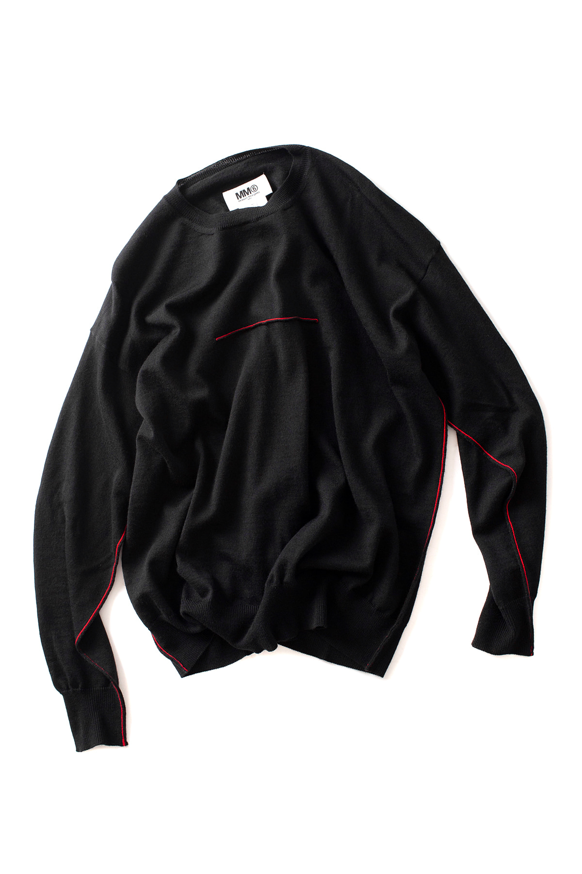 MM6 Maison Margiela : Line Pullover (Black)