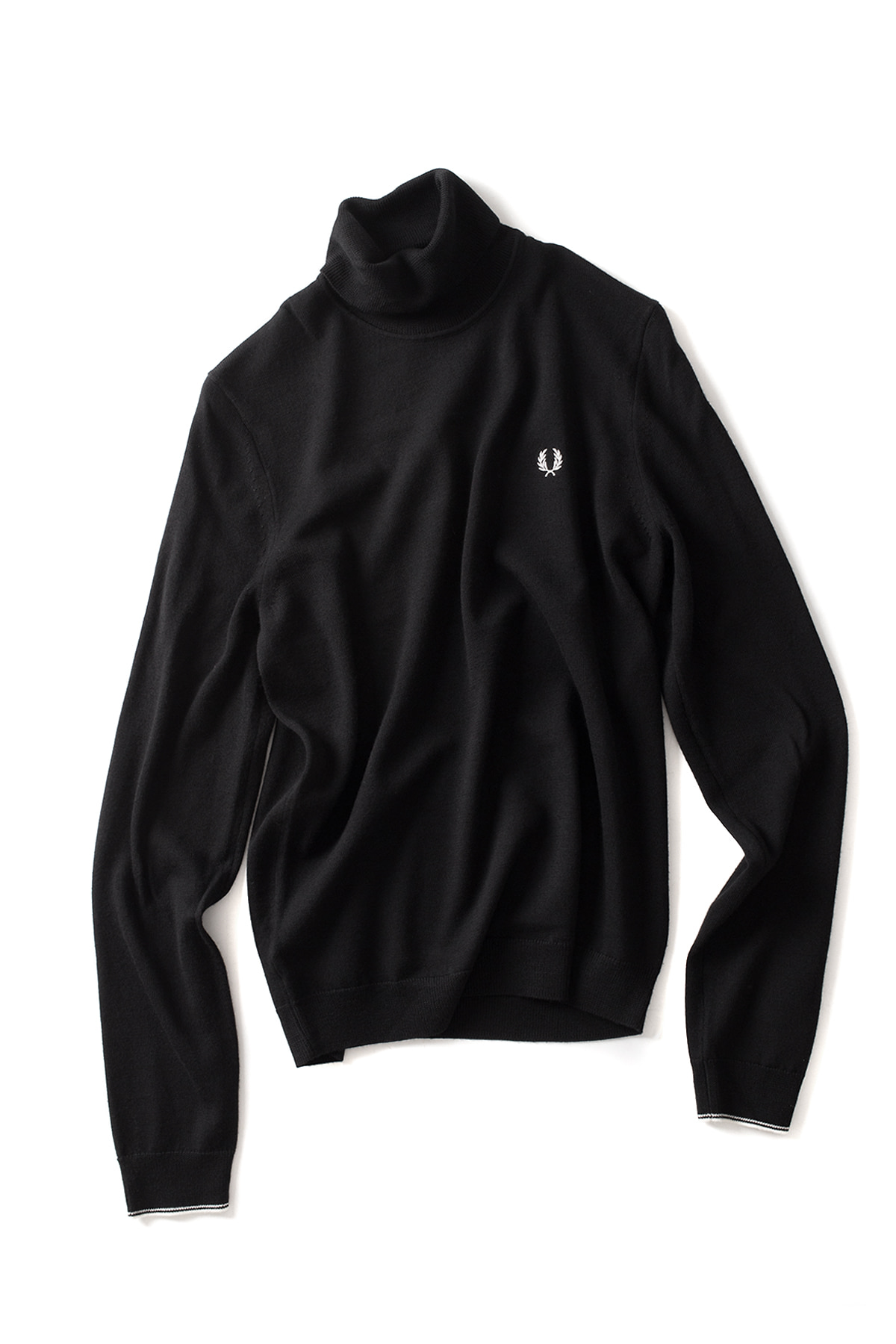 FRED PERRY : Classic Merino Roll Neck Sweater (Black)