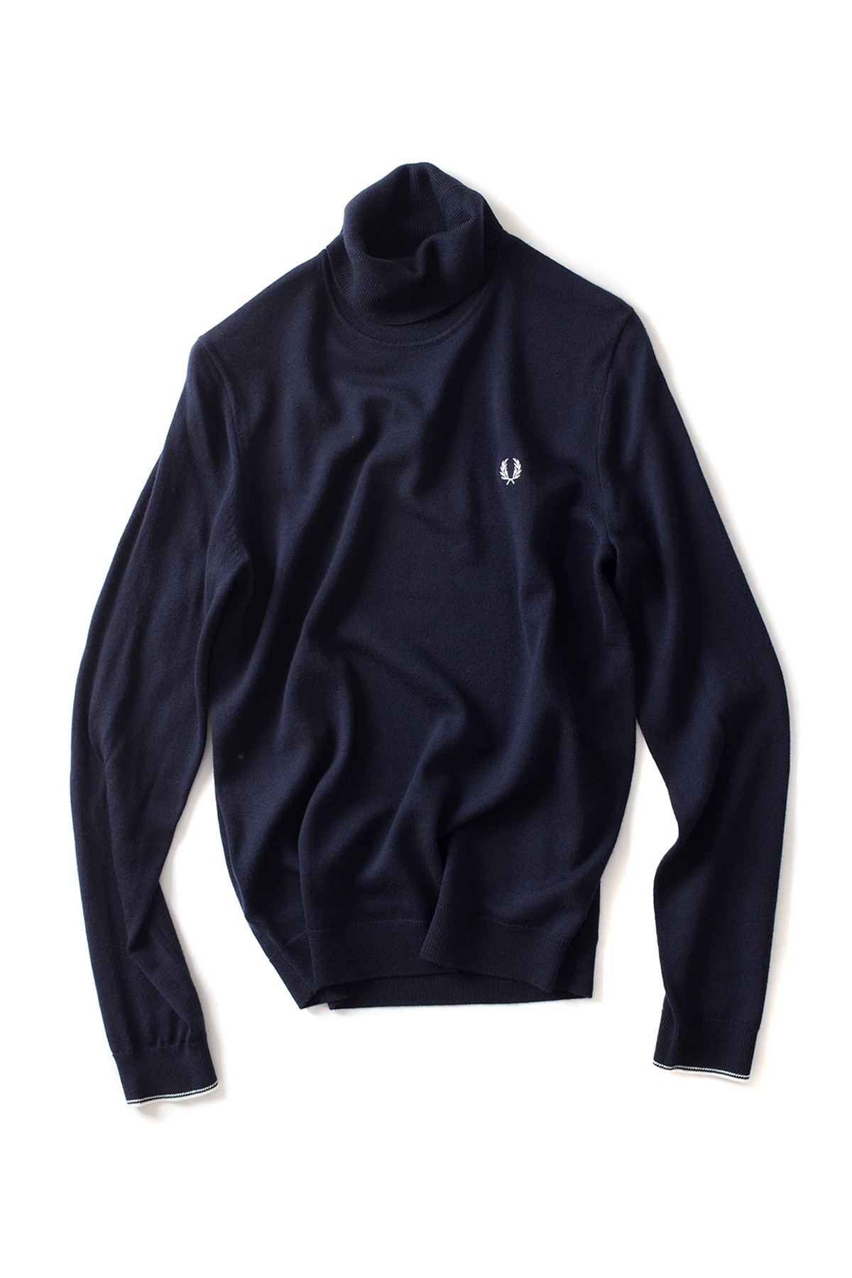 FRED PERRY : Classic Merino Roll Neck Sweater (Dark Carbon)