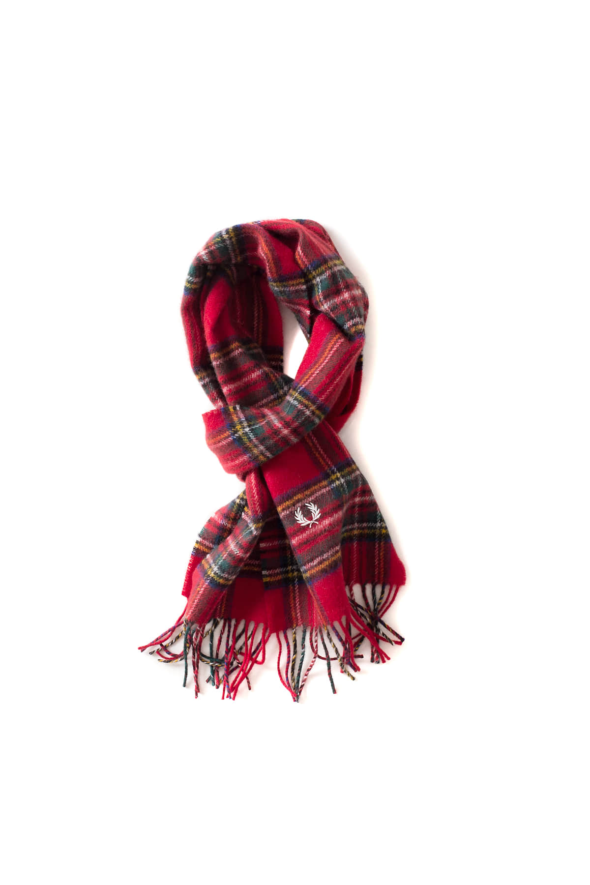 FRED PERRY : Royal Stewart Tartan Scarf (Red)