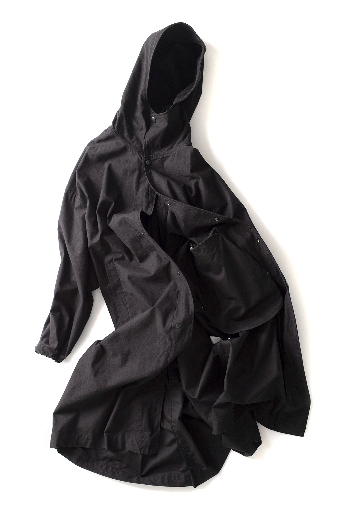 Ordinary fits : Hoodie Coat (Black)