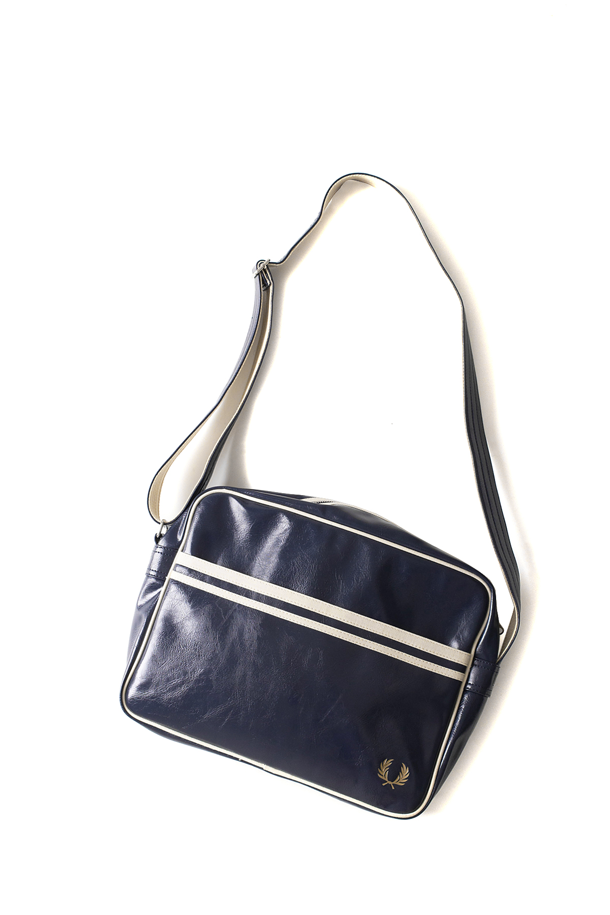 FRED PERRY : Classic Shoulder Bag (Navy / Ecru)