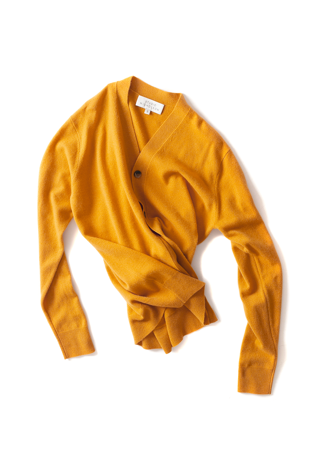 STUDIO NICHOLSON : High Neck Cardigan (Mustard)
