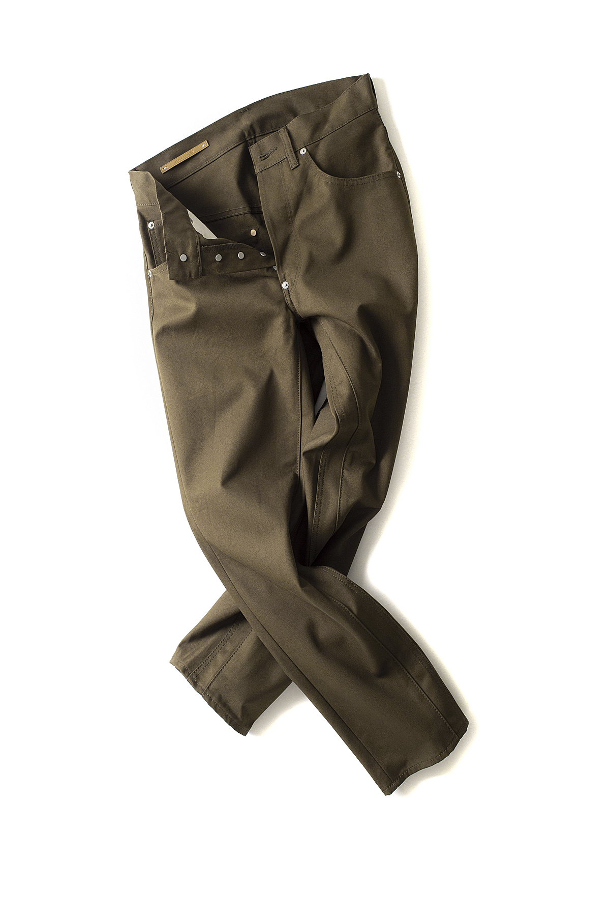 Scye Basics : Cotton Duck Hip Gusset 5Pocket Trousers (Khaki Brown)