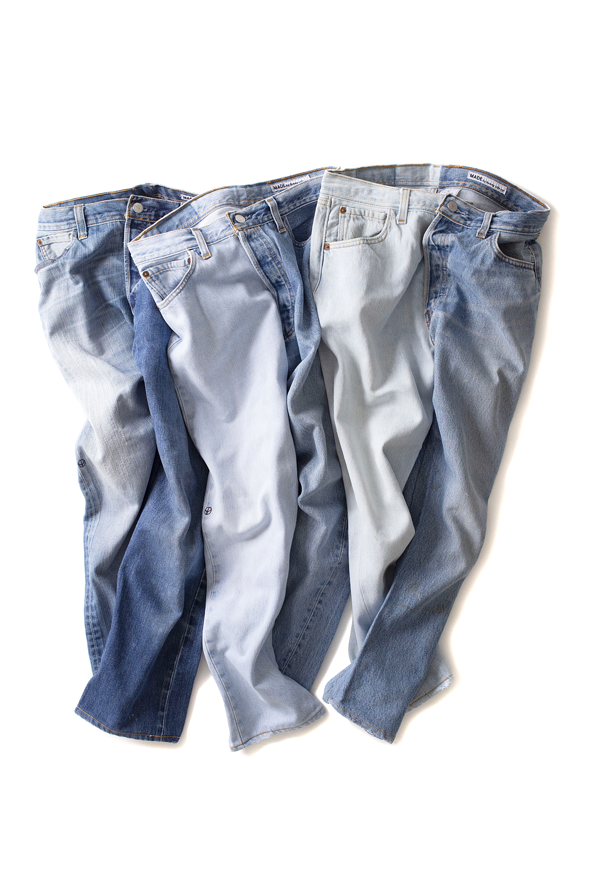 MADE by Sunny side up : 2 Forl Denim 5P Pants (Blue)