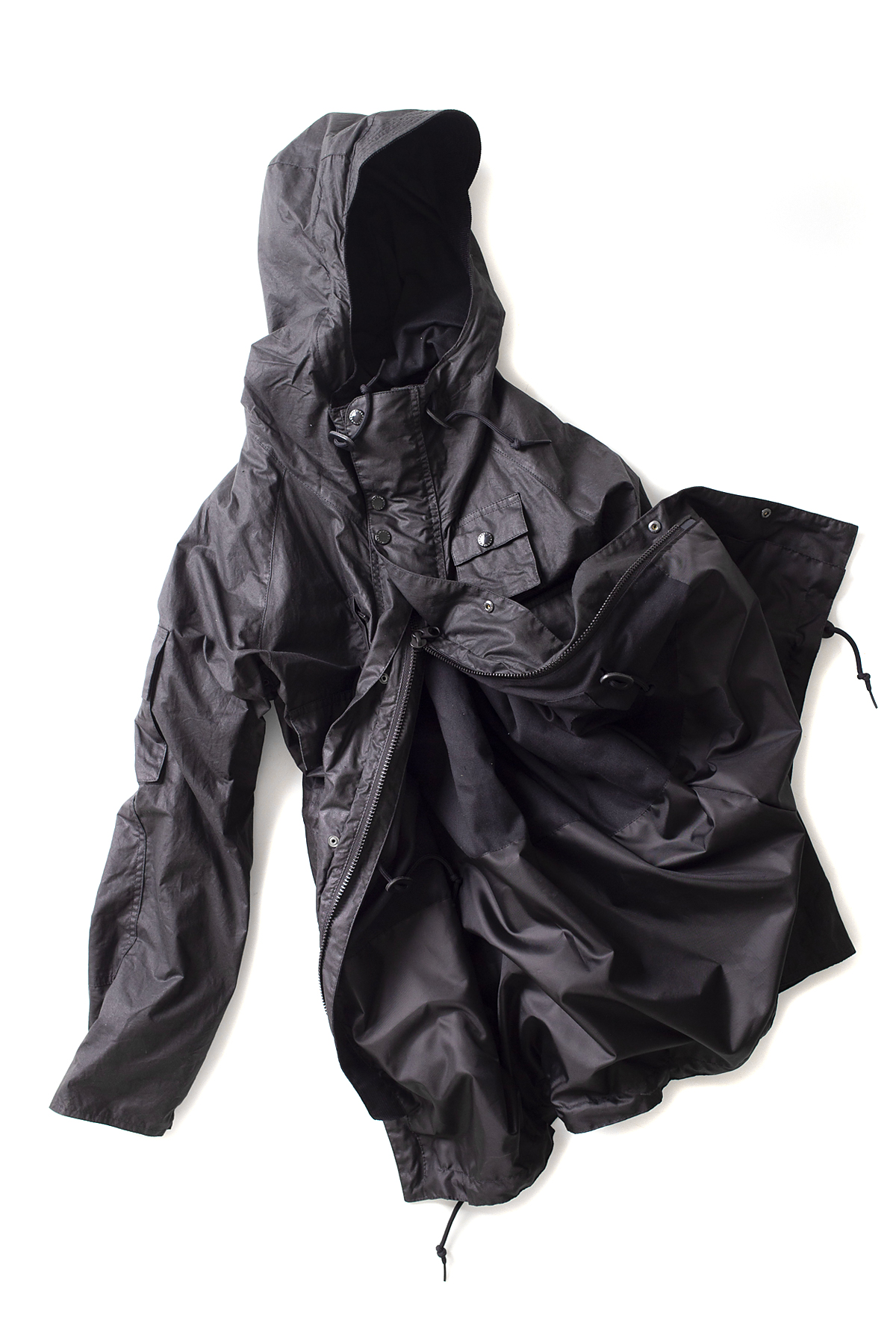 Barbour x Engineered Garments : Zip Parka (Black)