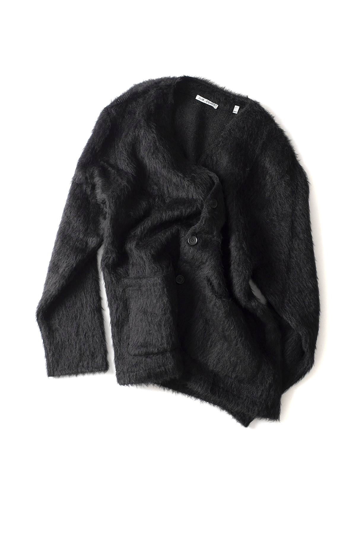OUR LEGACY : Mohair Cardigan (Black)