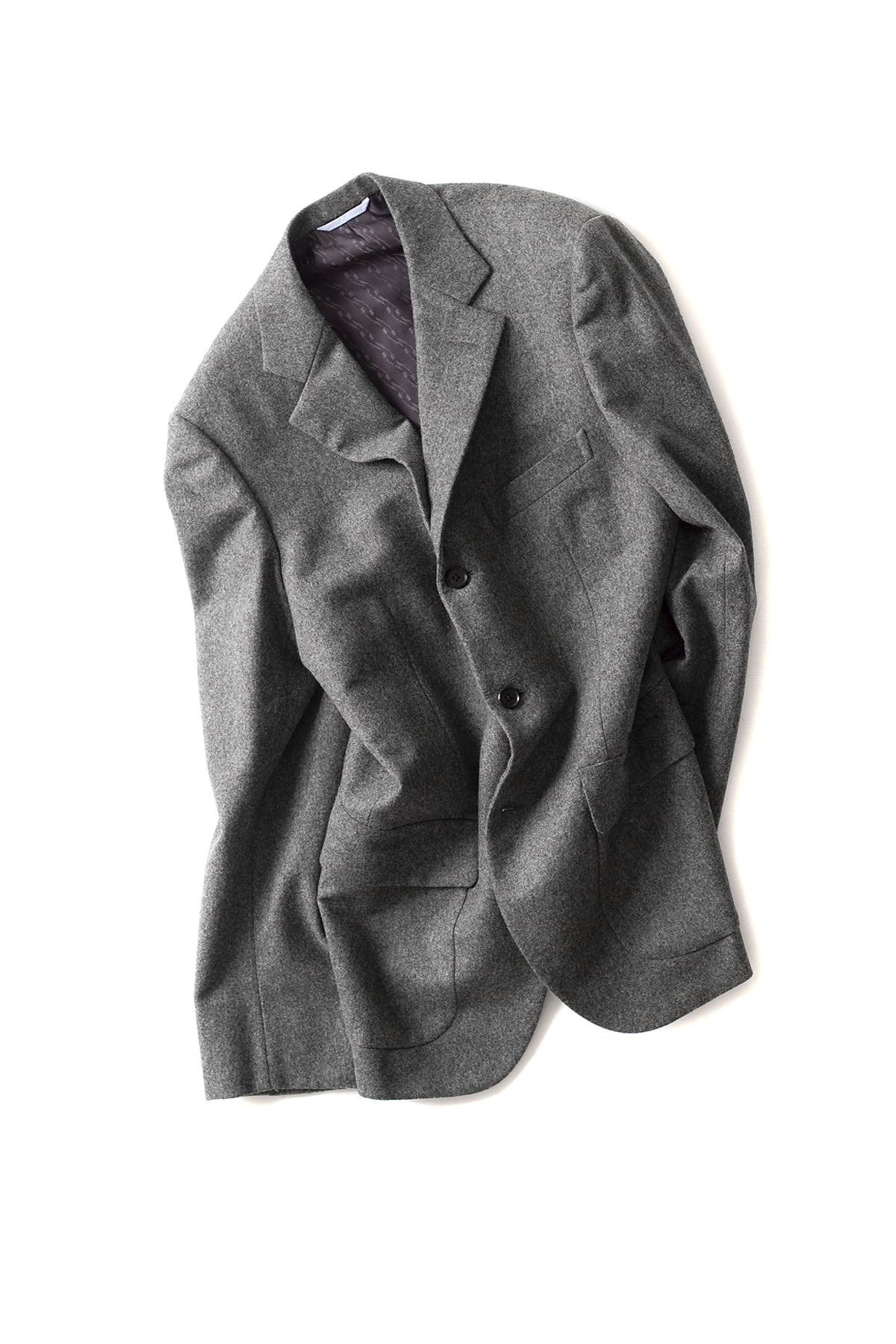 Kenneth Field : 60s Fox Solid Flannel (Grey)