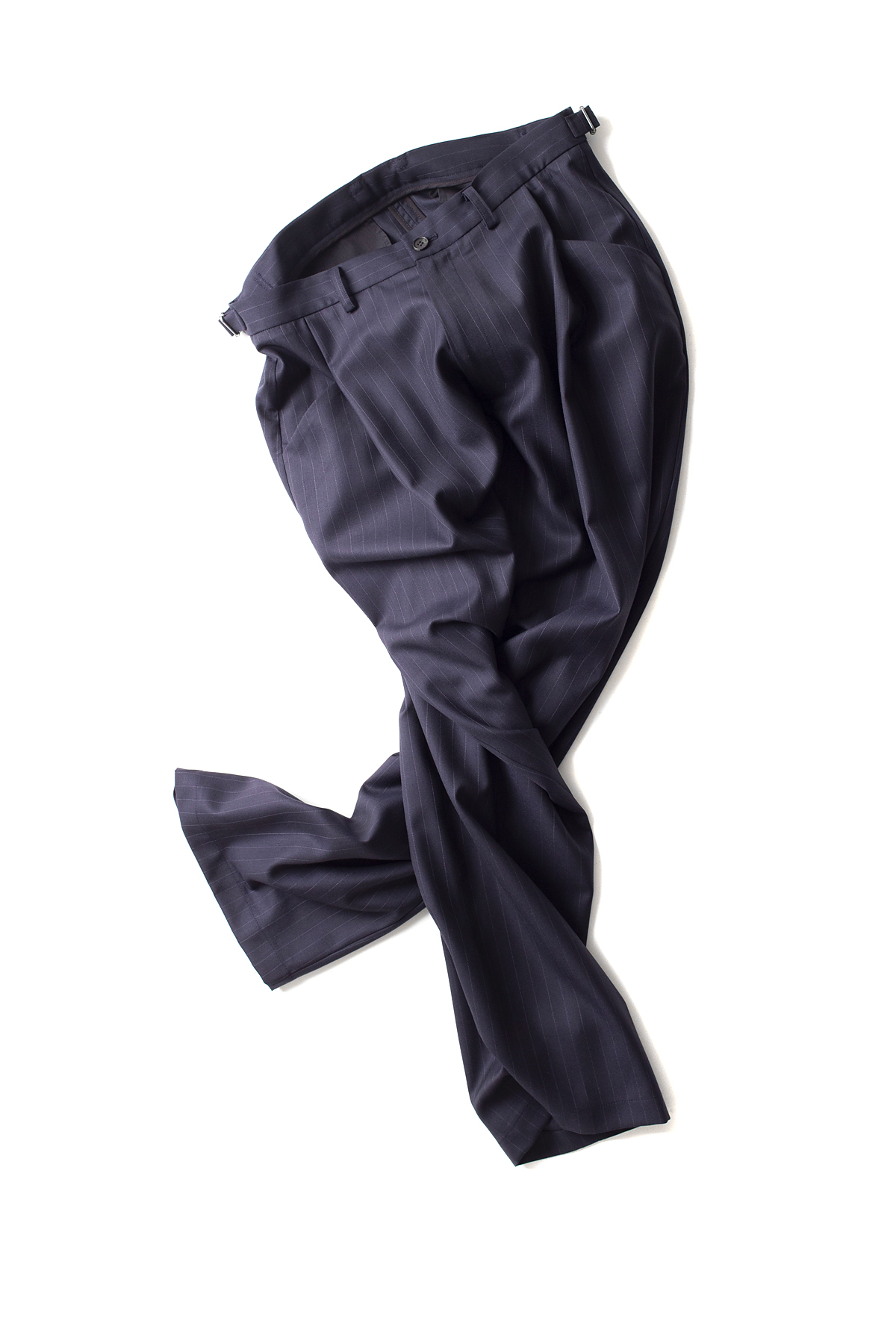 youth : Structured Wide Pants (Navy)