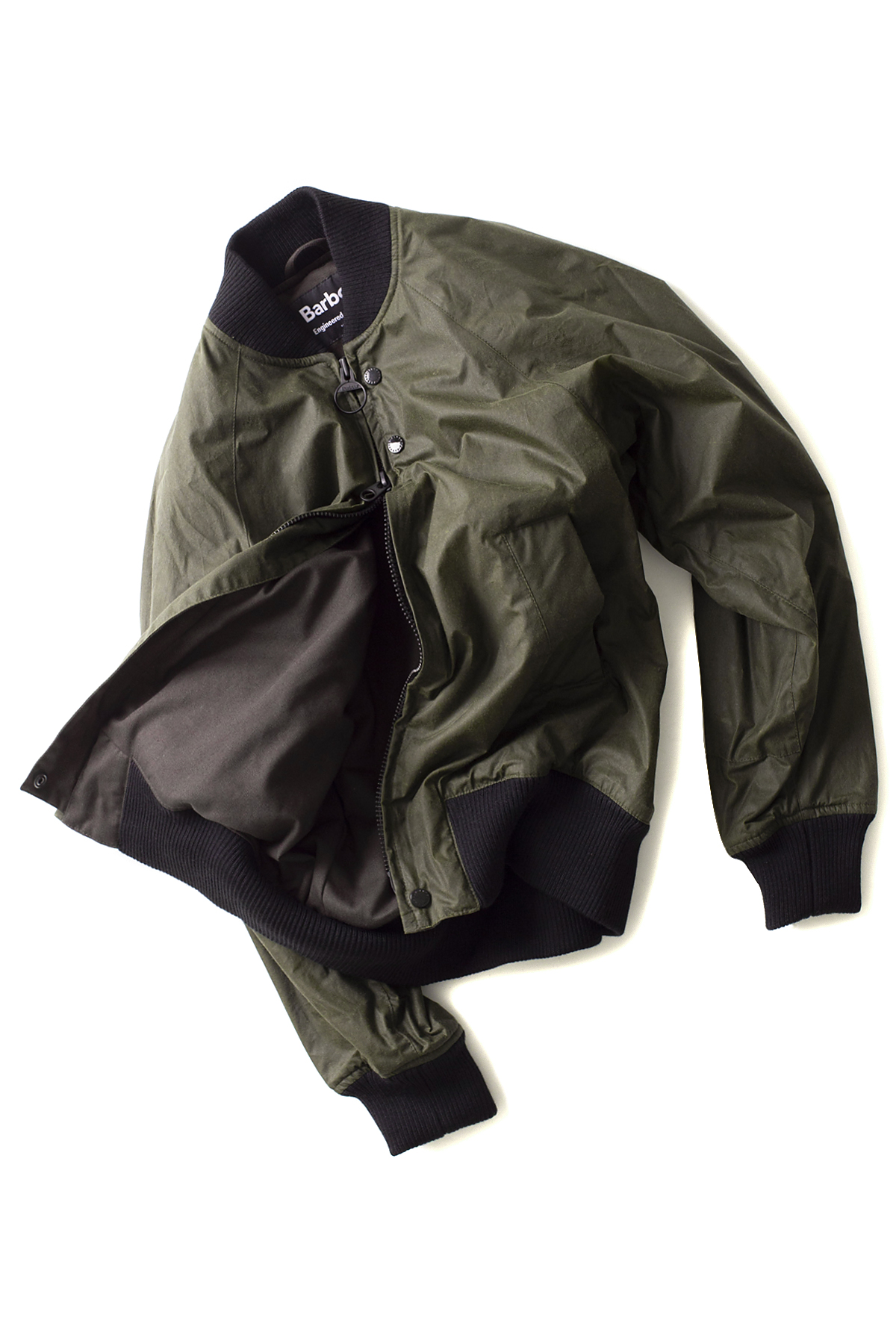 Barbour x Engineered Garments : Dumbo Wax Oilve Bomber Jacket (Olive)