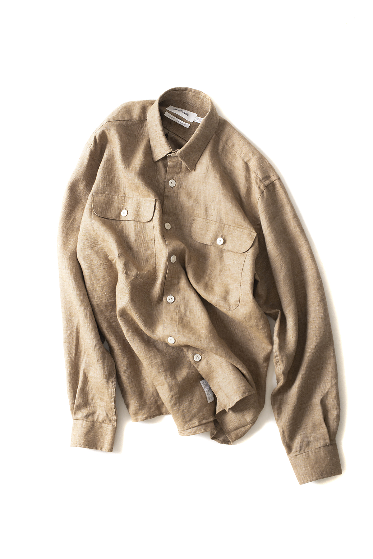 Schnayderman's : Shirt Linen Oversized (Brown)