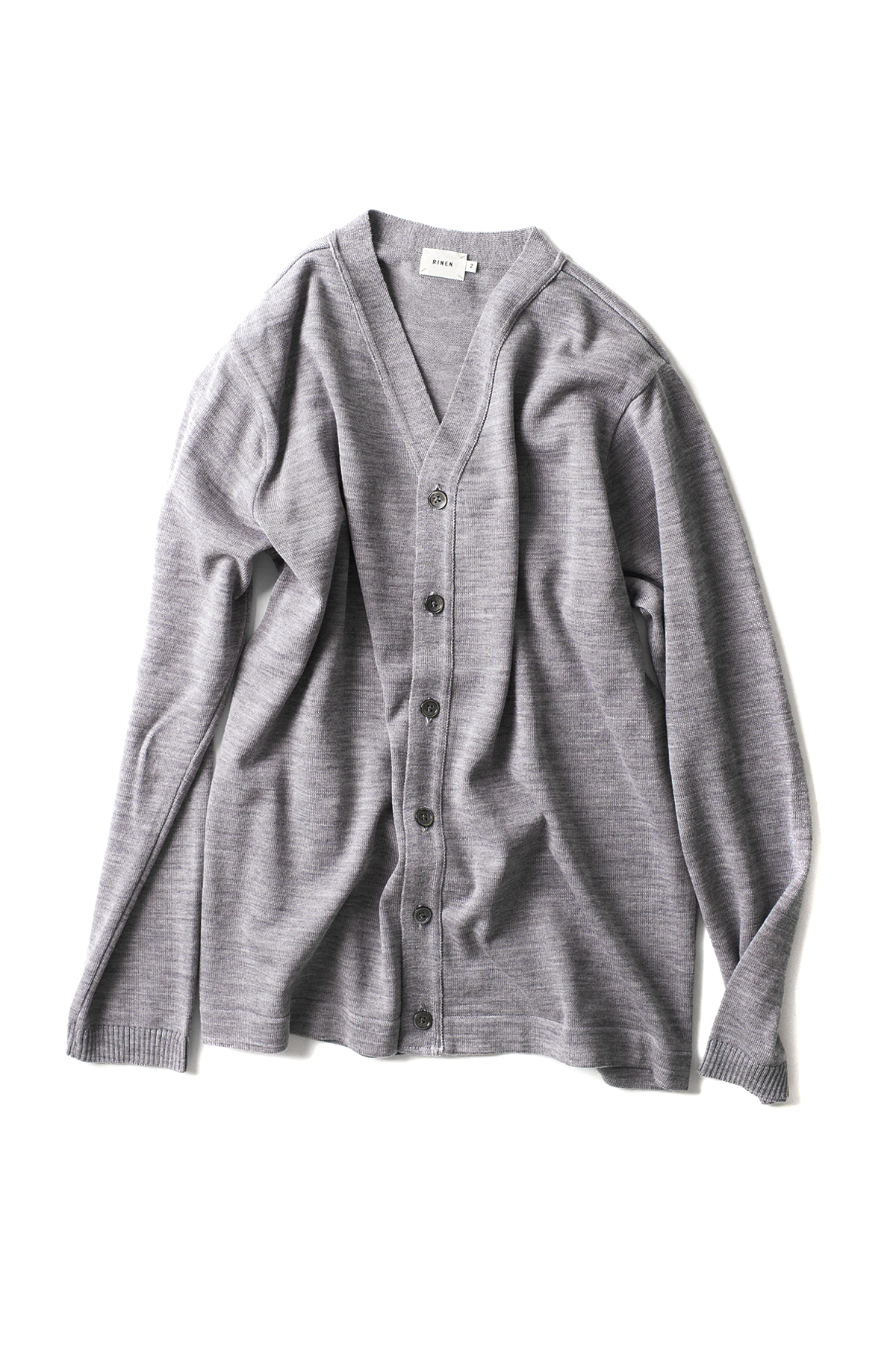 RINEN : Wool Knit Cardigan 13982 (Grey)