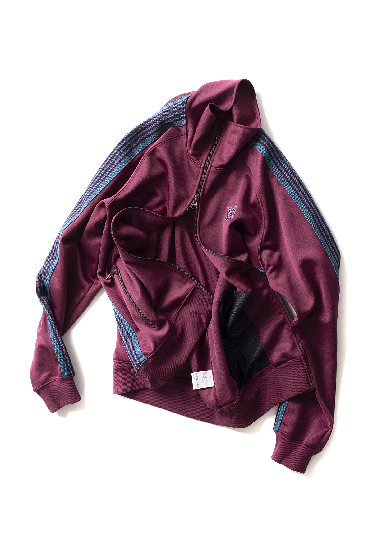NEEDLES : Poly Smooth Narrow Track Jacket (Maroon)