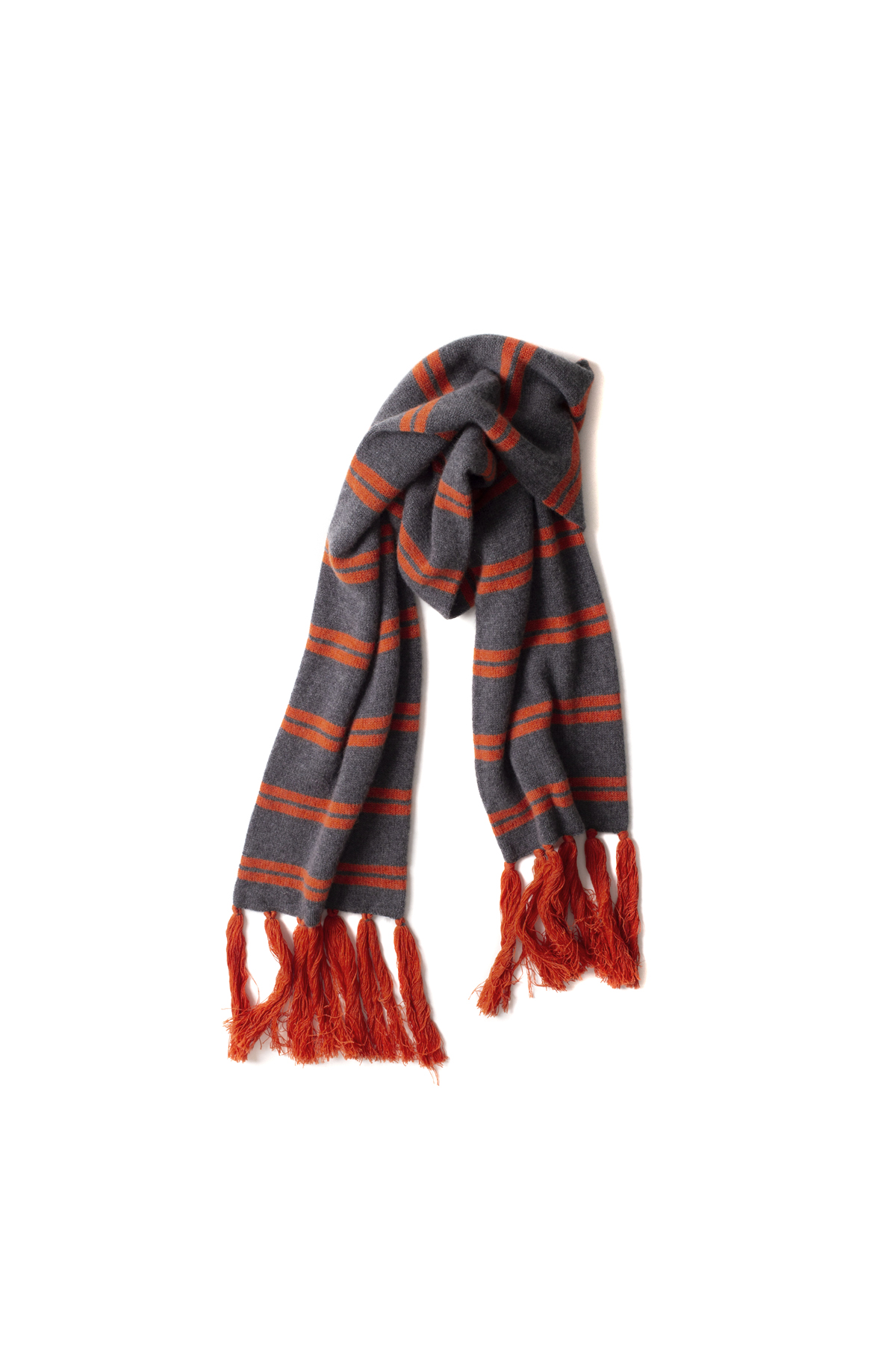 E. Tautz : Tasseled Scarf (Orange)