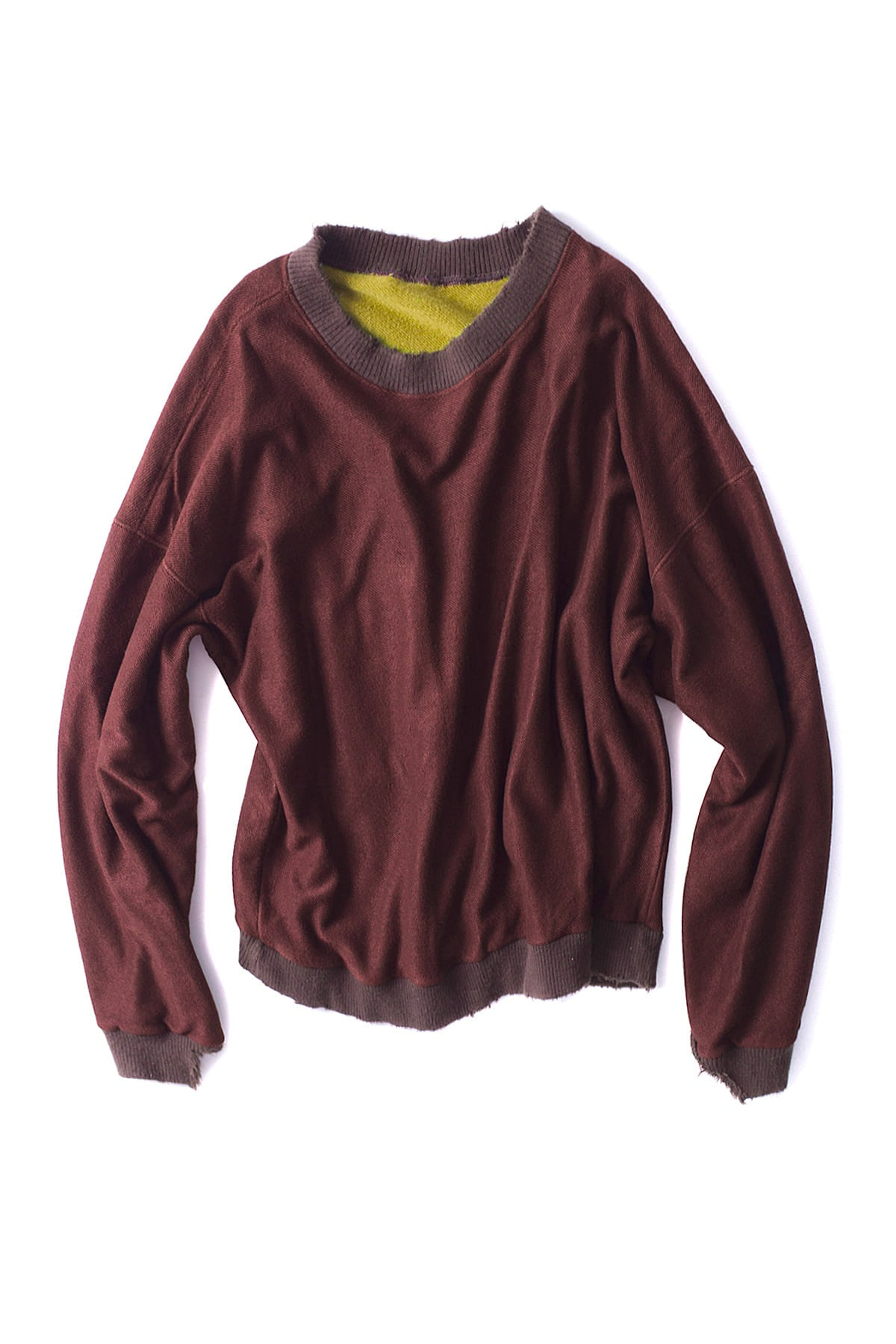 BIRTHDAYSUIT : Super Soft Reversible Pullover (Brown)