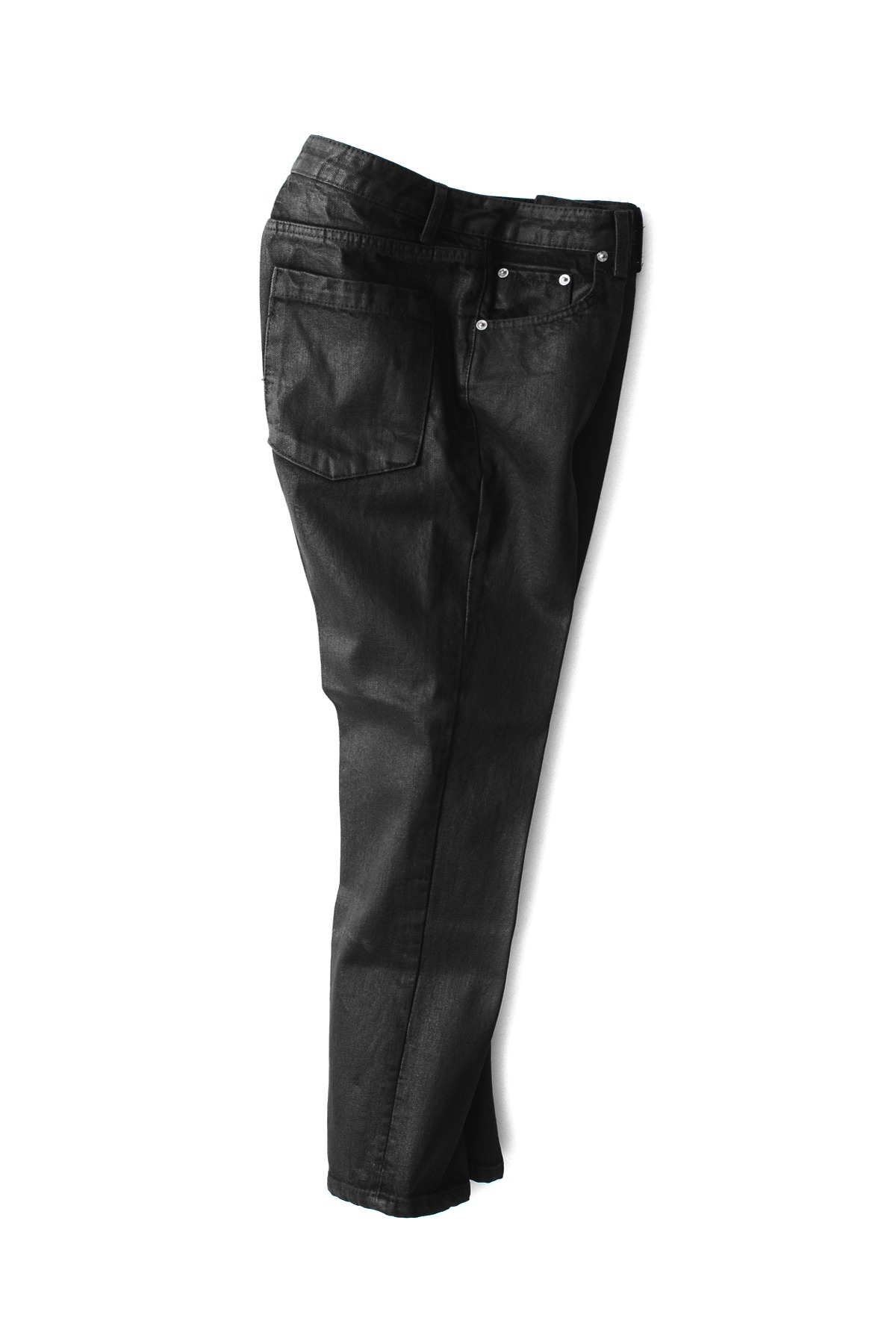 BIRTHDAYSUIT : Slim Fit Coated Jeans (Black)