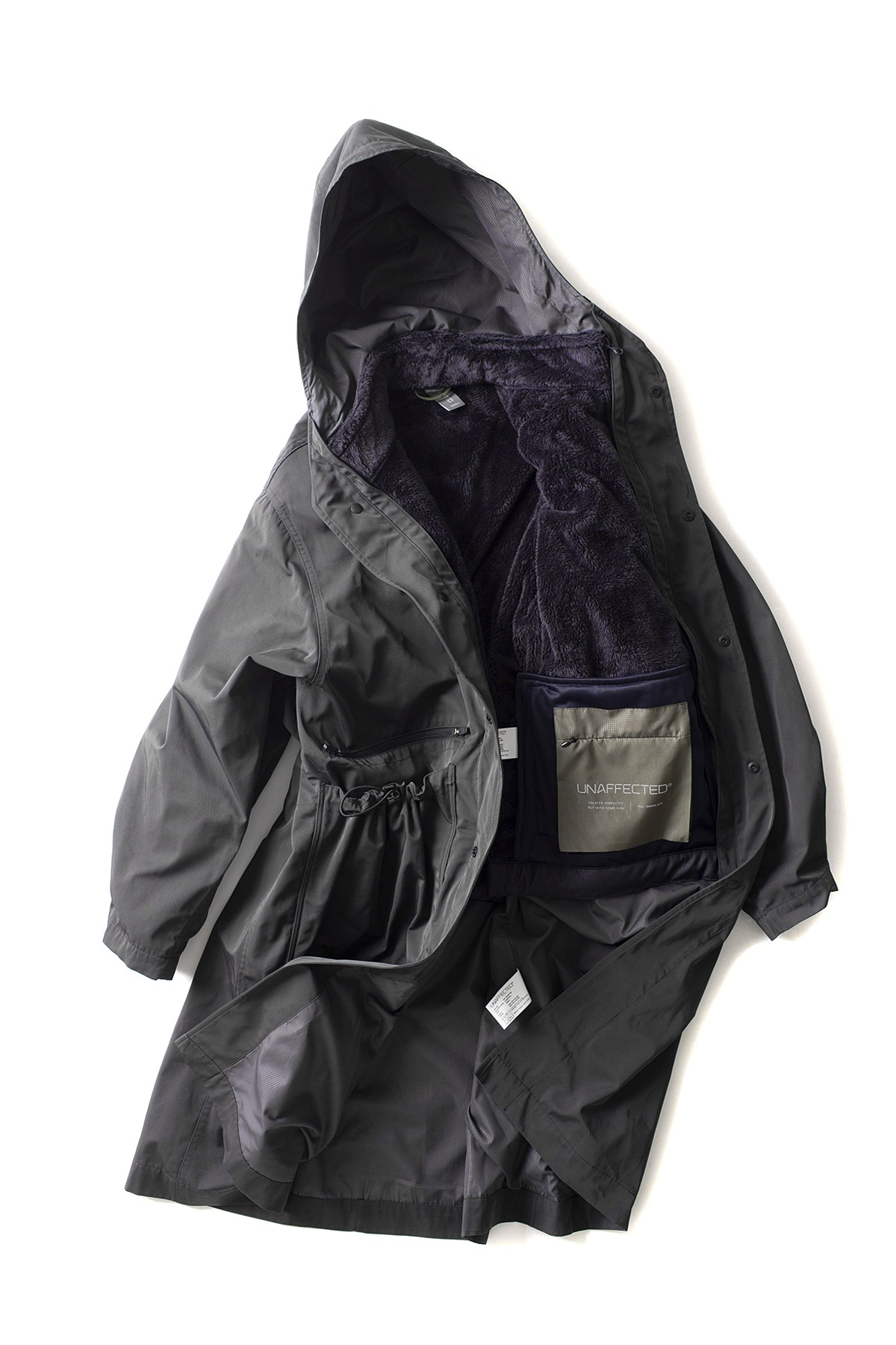 UNAFFECTED : Oversized Long Parka (Charcoal)
