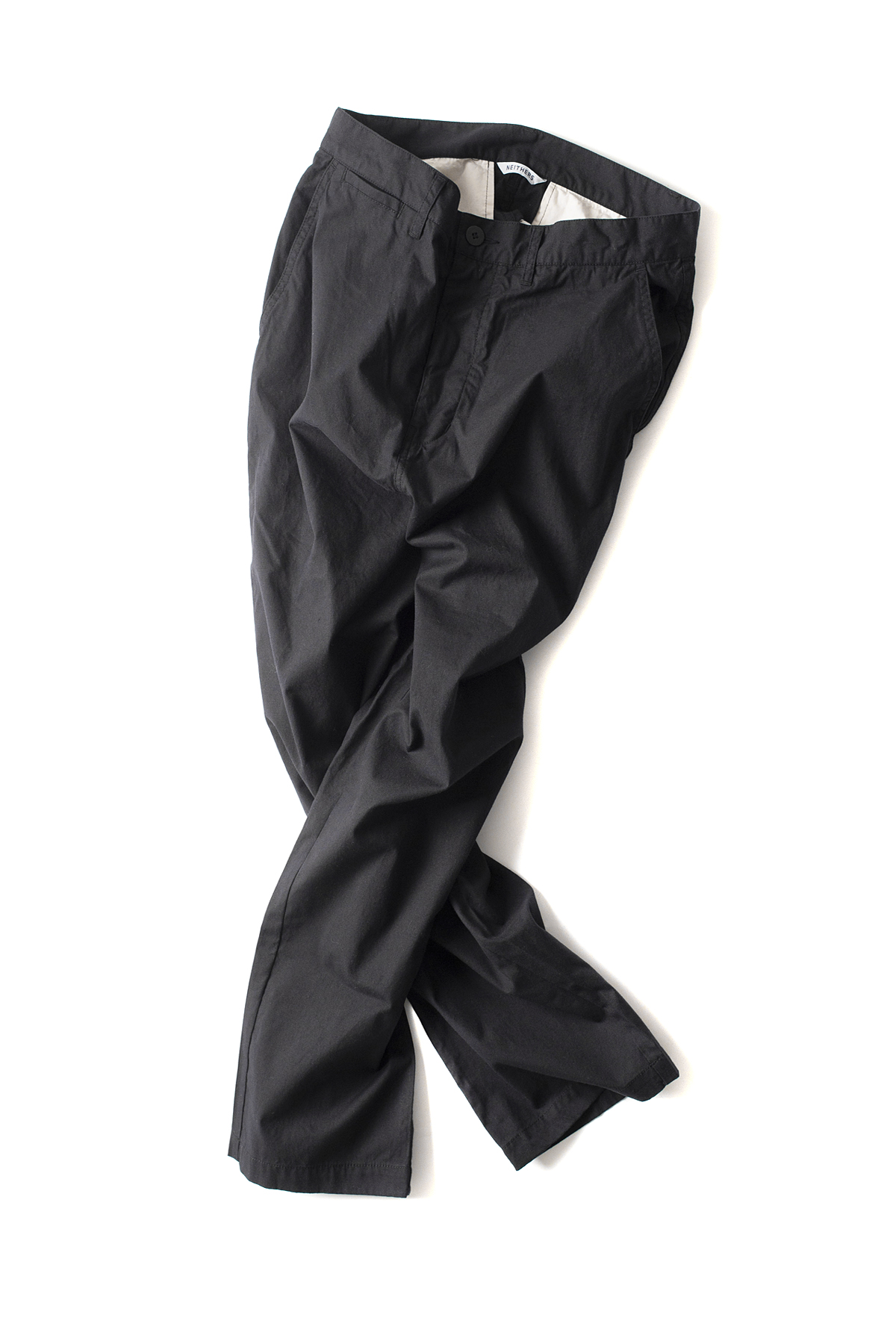 NEITHERS : Cut Off Crop Pants (Black)
