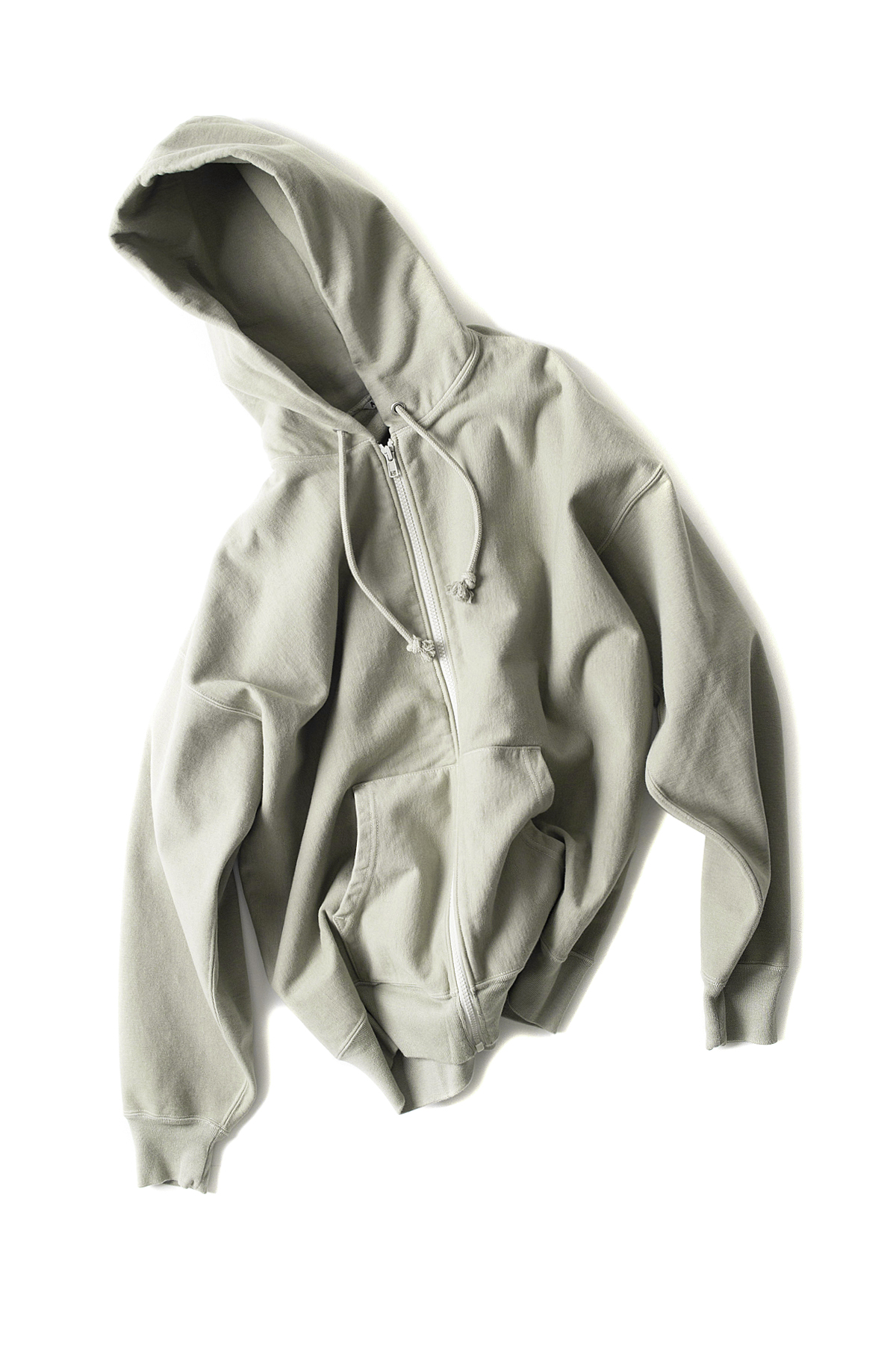 Auralee : Super Milled Sweat Zip Parka (Light Khaki)