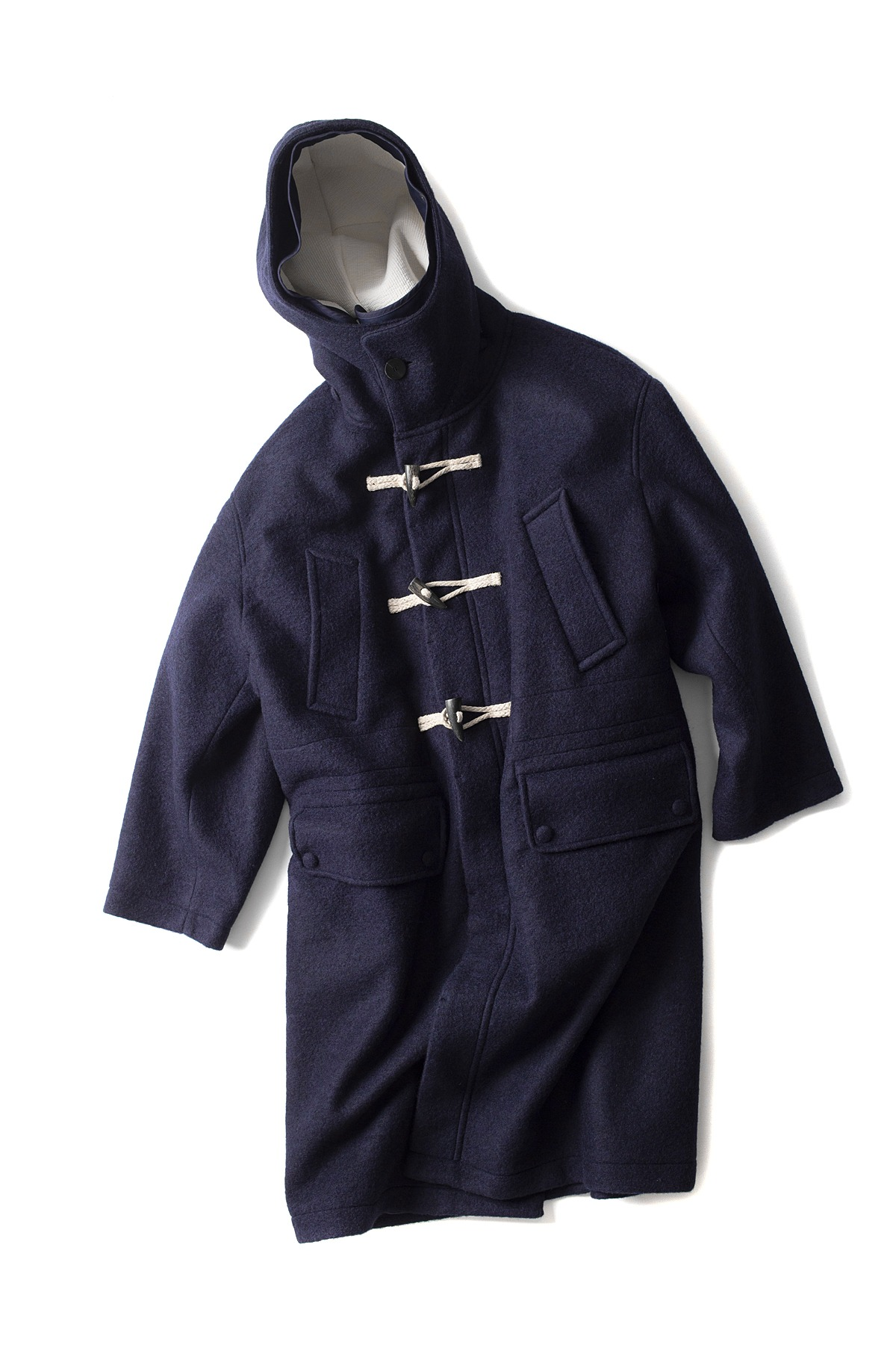 Document : The Document Wool Duffle Coat (Navy)