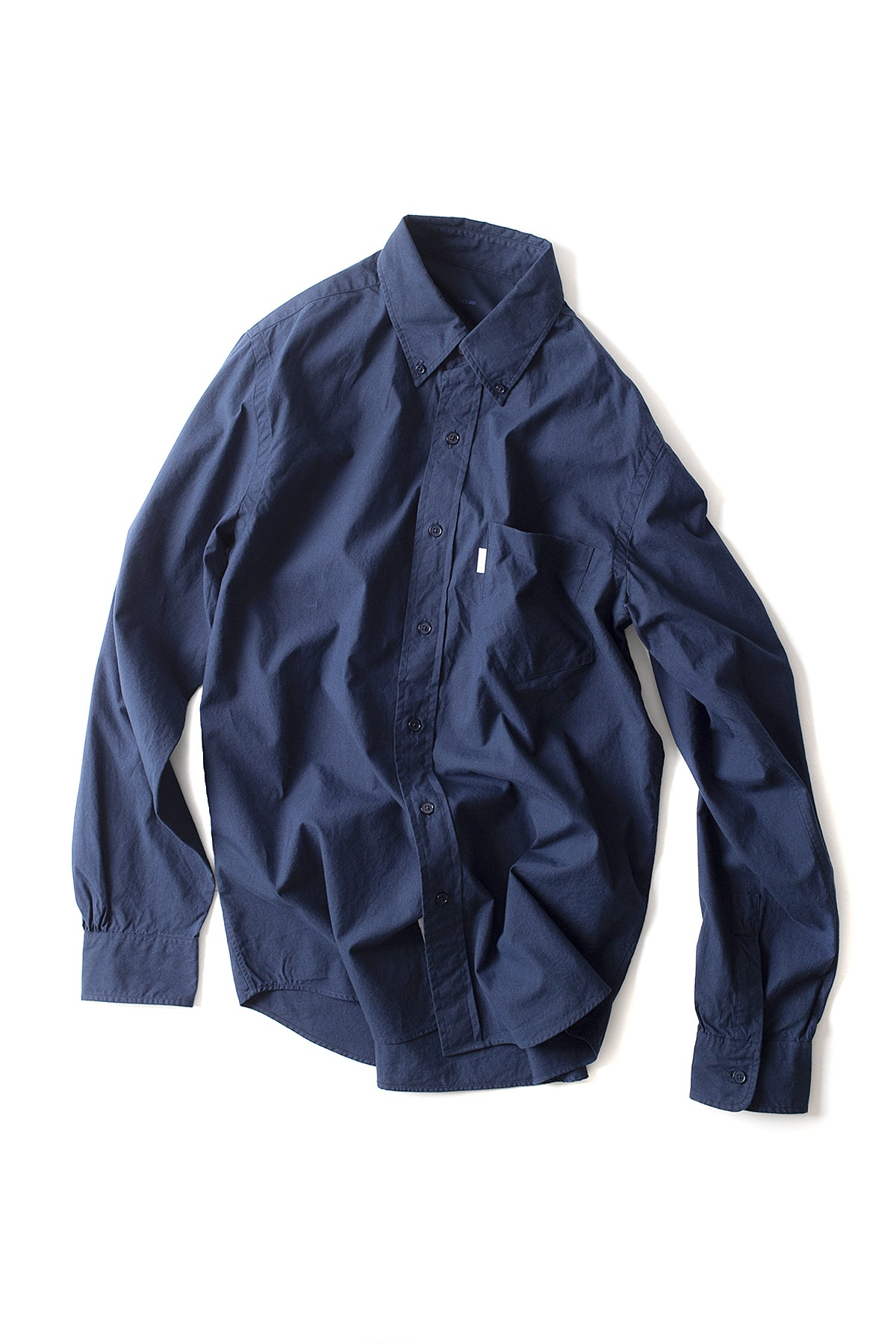 S H : Button Down Shirt (Navy)