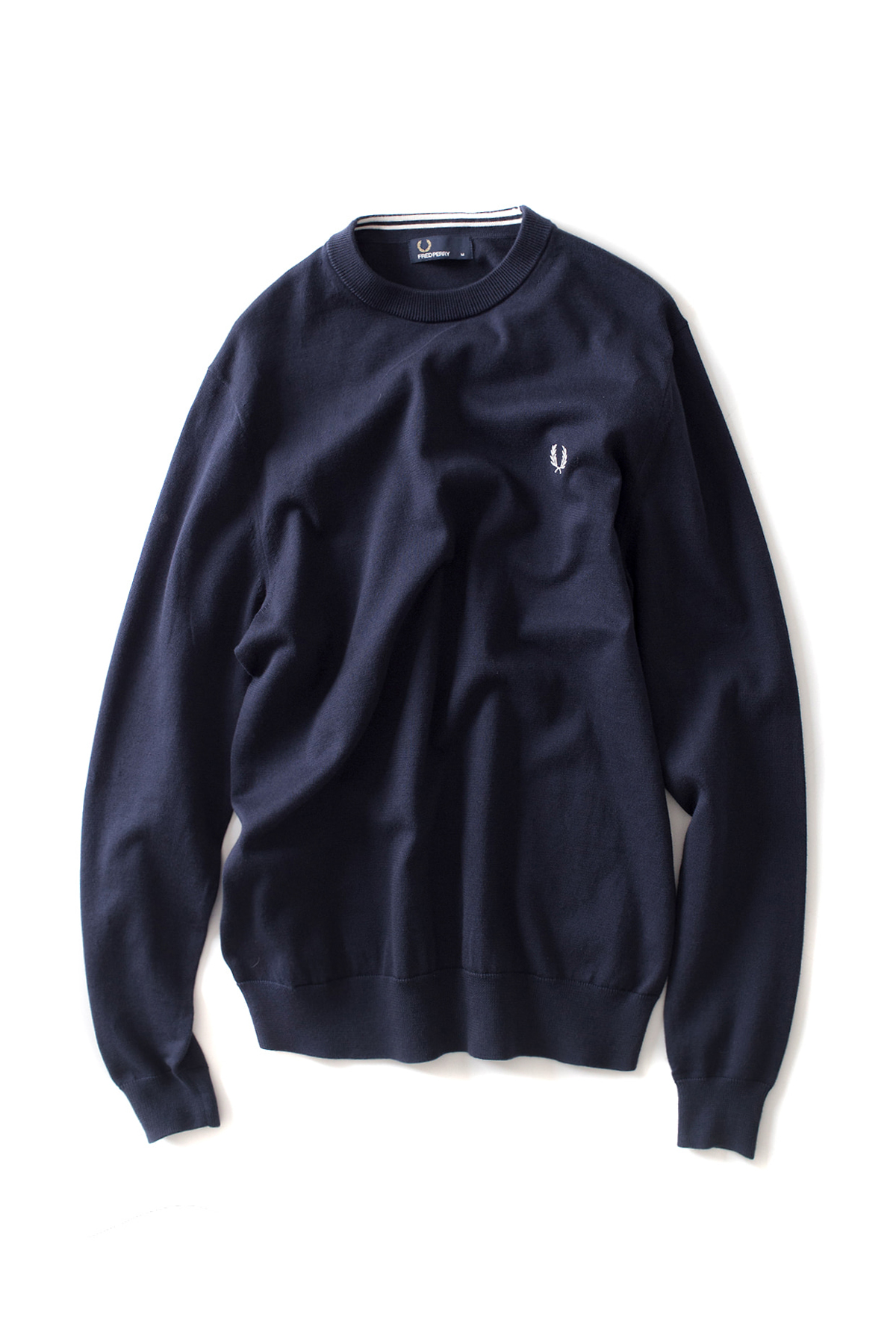 FRED PERRY : Classic Crew Neck Sweater (Dark Carbon)