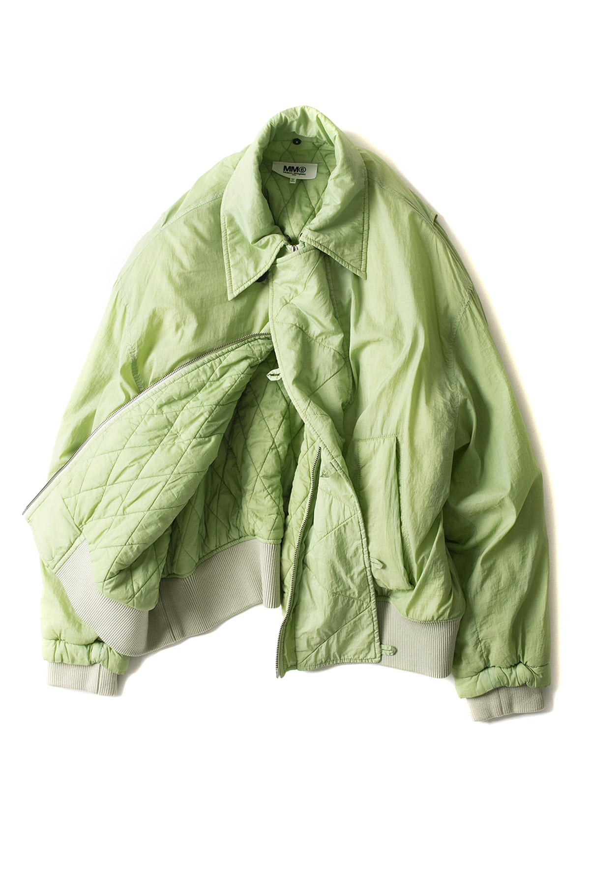 MM6 Maison Margiela : Fur Bomber Jacket (Green)