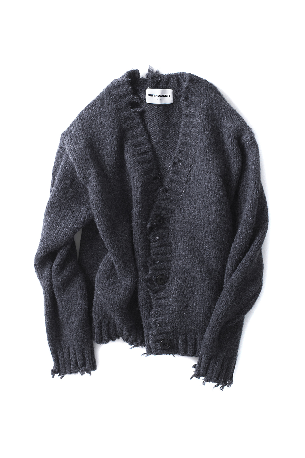 BIRTHDAYSUIT : Oversized Cardigan (Charcoal)